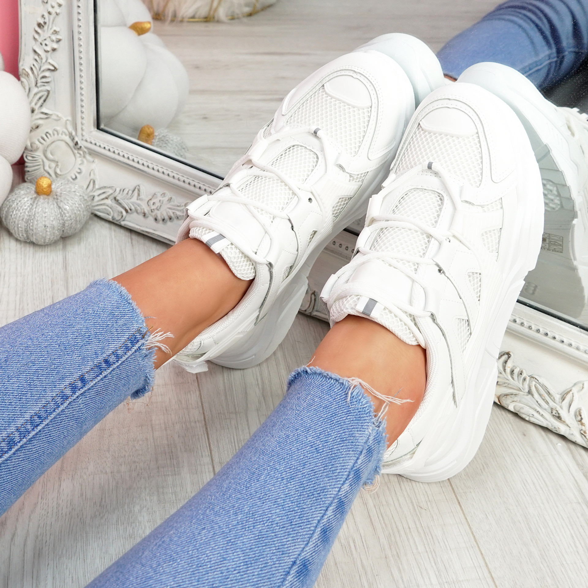Norre White Chunky Sneakers