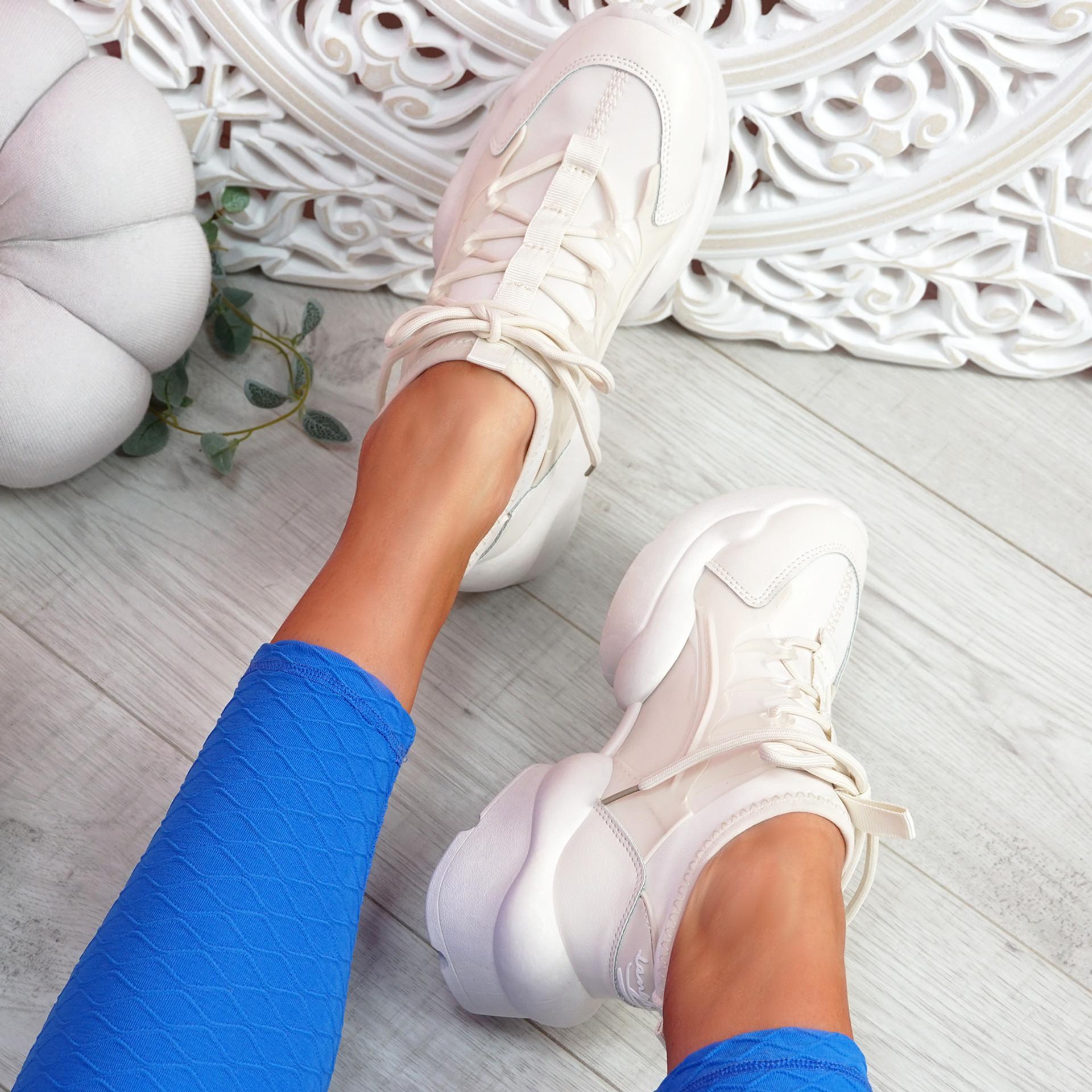 Uny Beige Chunky Sneakers