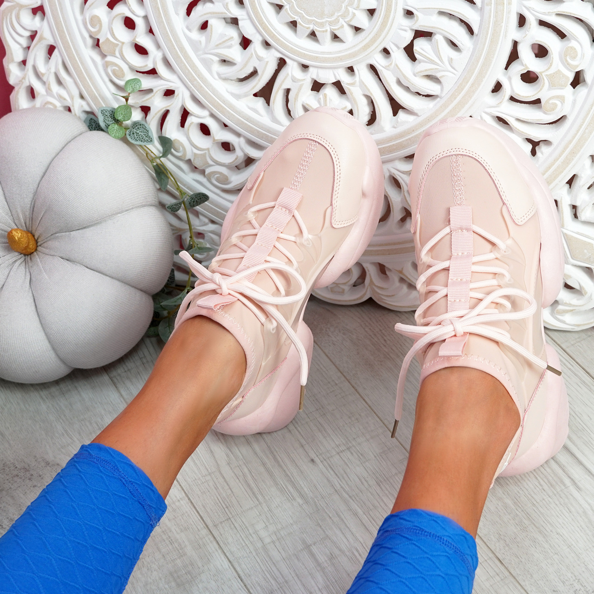 Uny Pink Chunky Sneakers