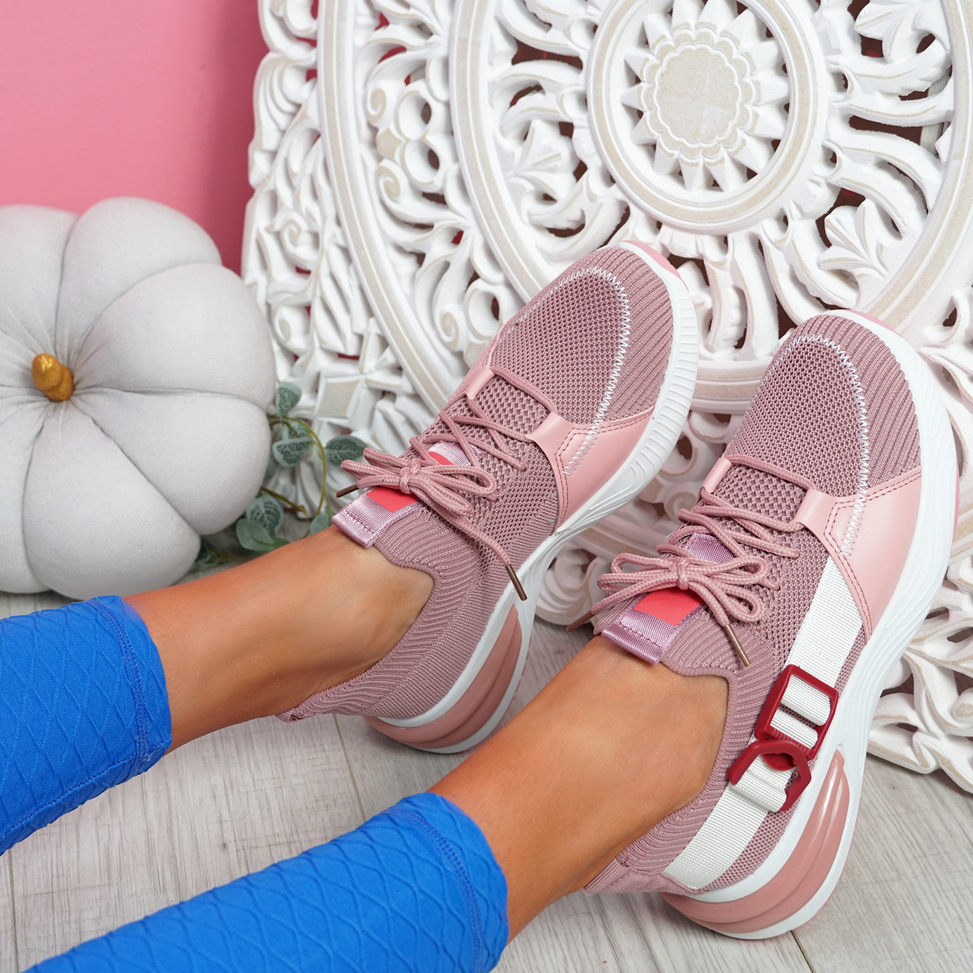 Irre Pink Chunky Sport Trainers