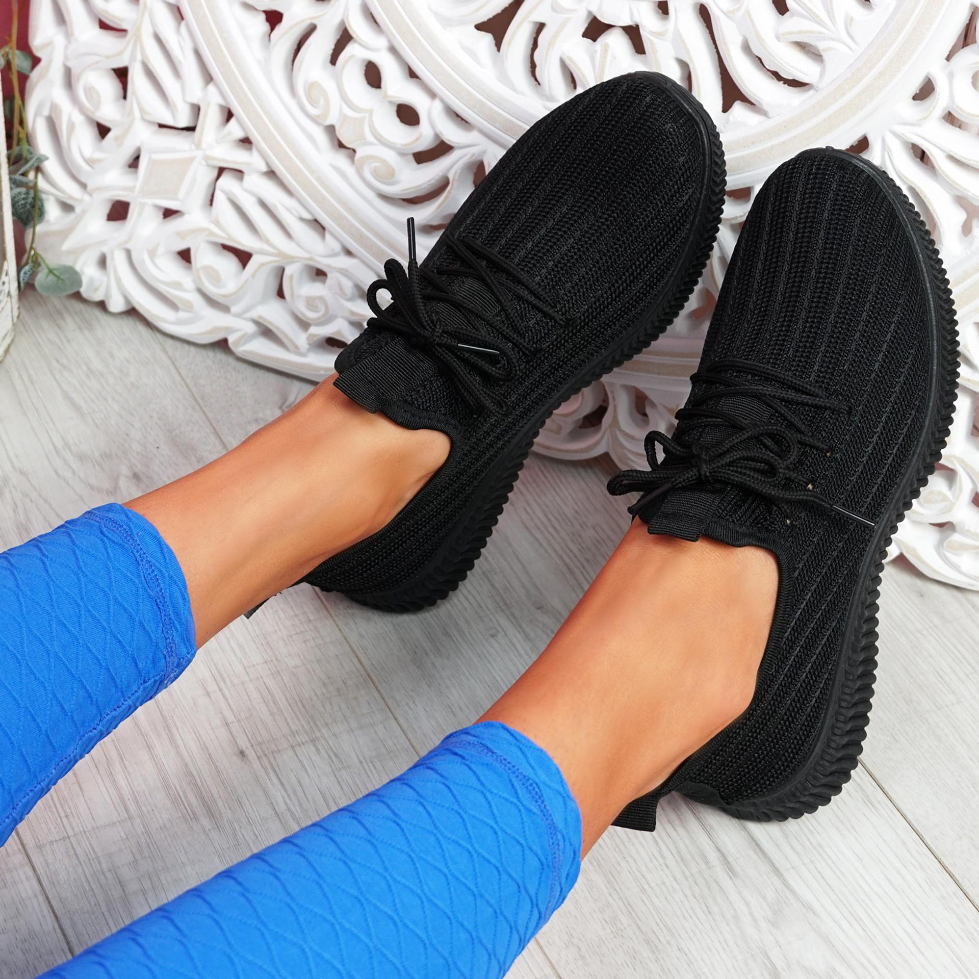 Mizzy Black Knit Sneakers