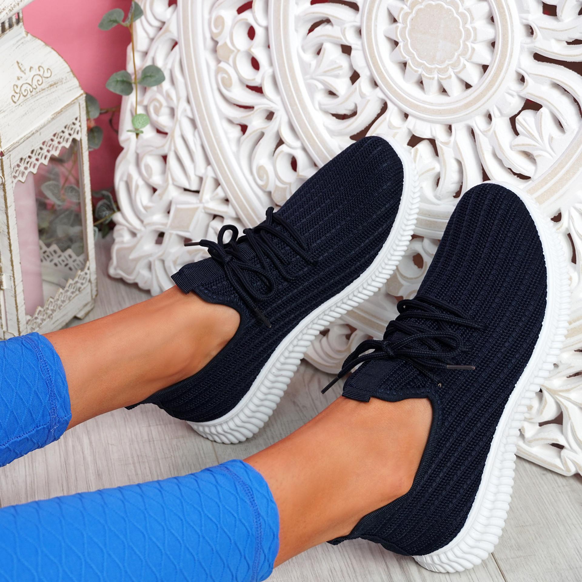 Mizzy Navy Knit Sneakers