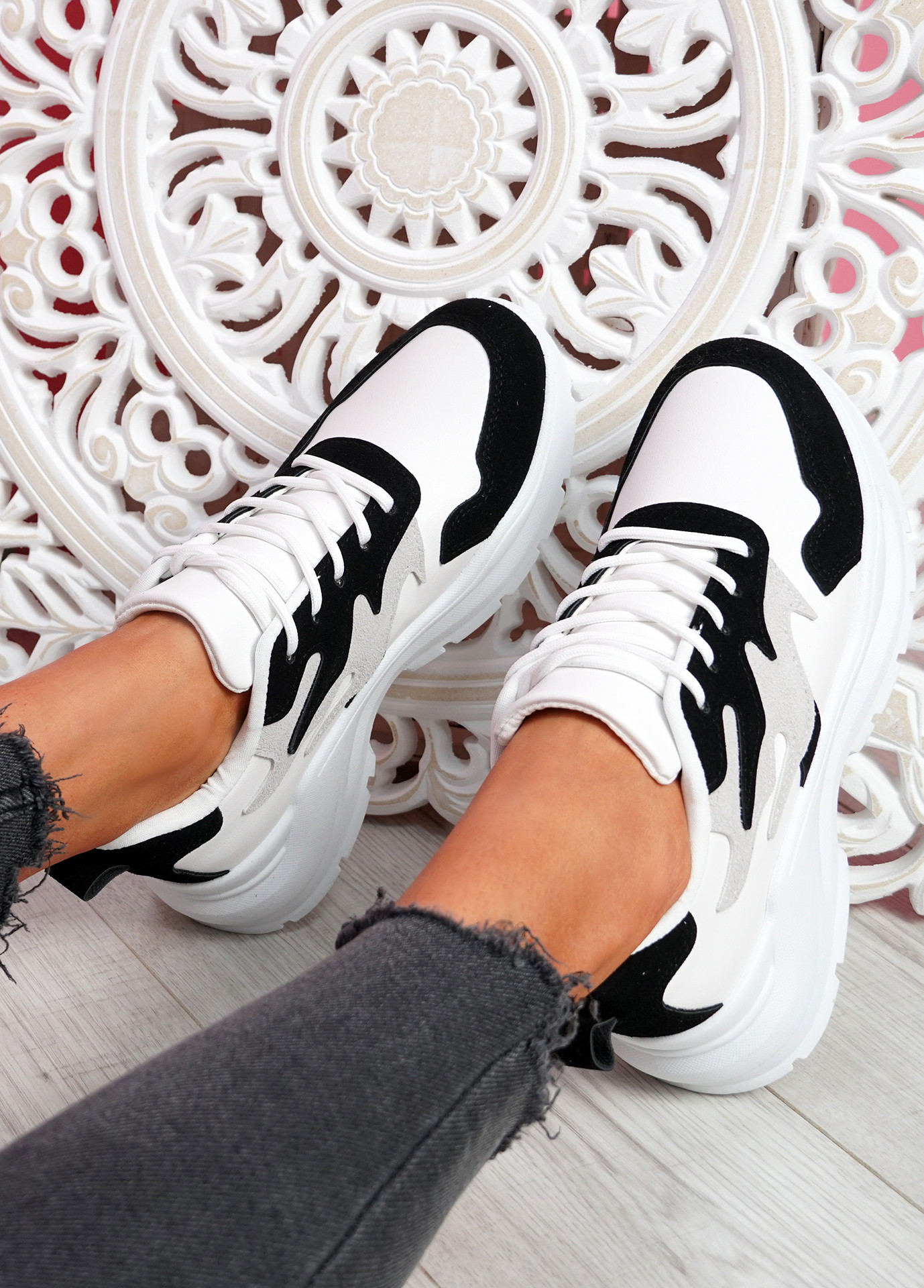 Nocy Black Chunky Trainers