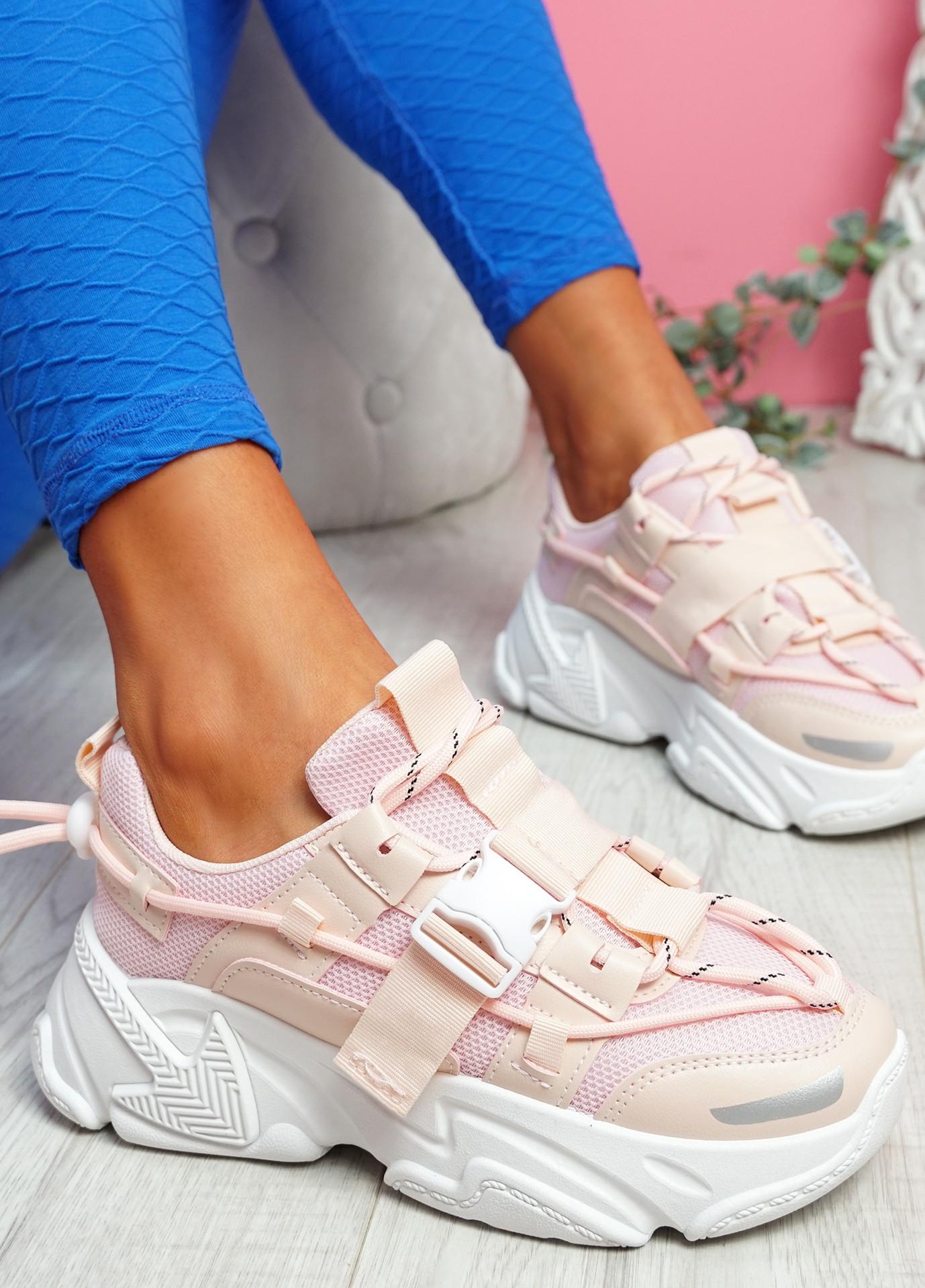Zedy Pink Chunky Trainers