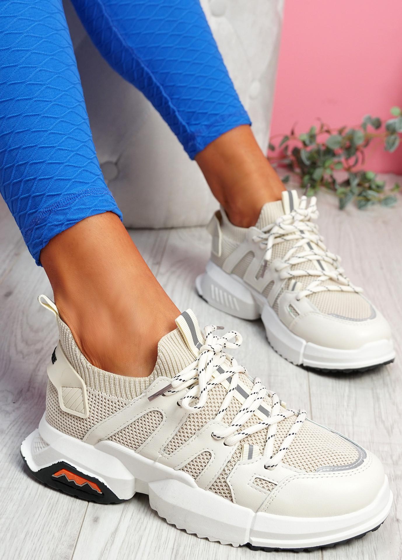 Kyme Beige Sport Sneakers