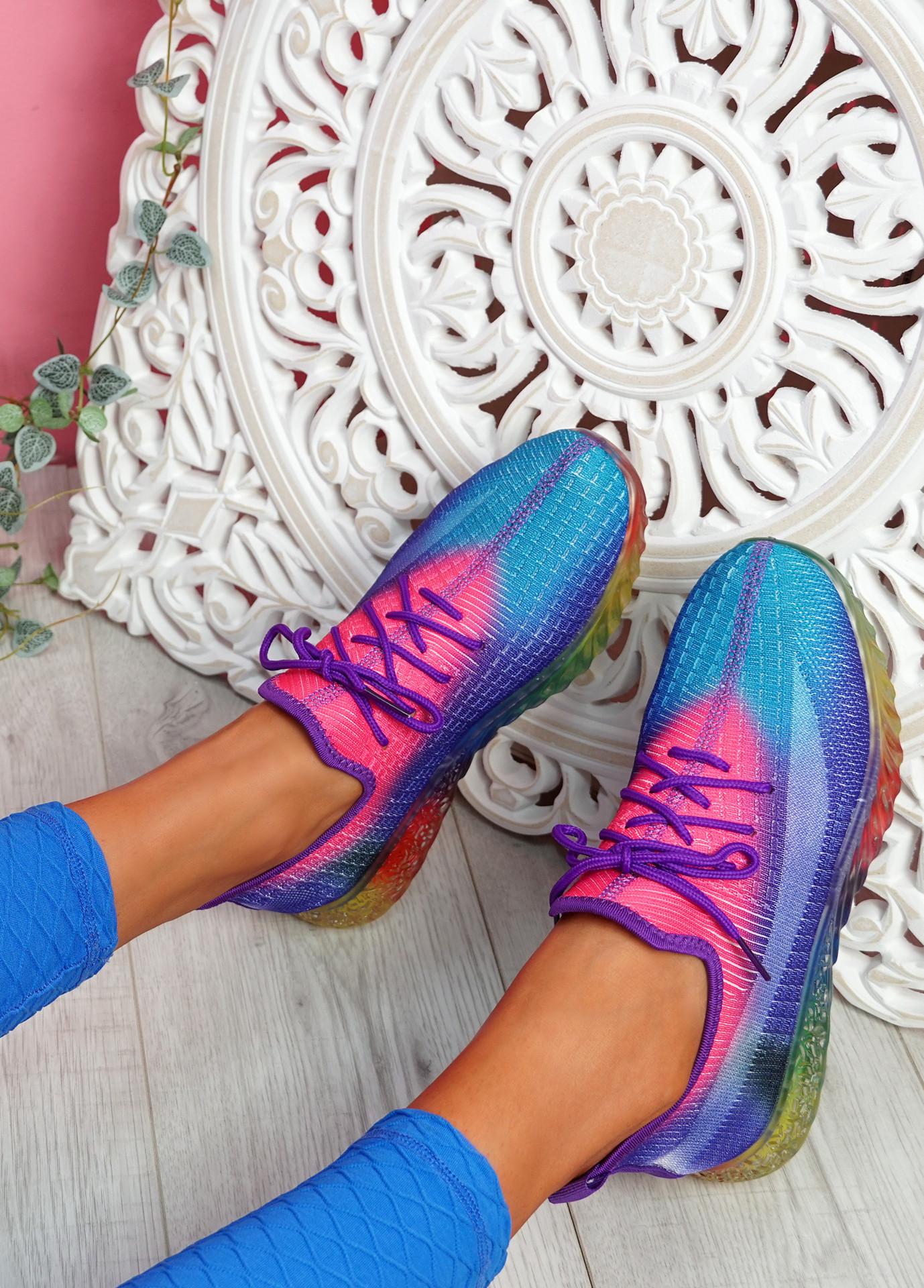 Rufo Purple Rainbow Sneakers