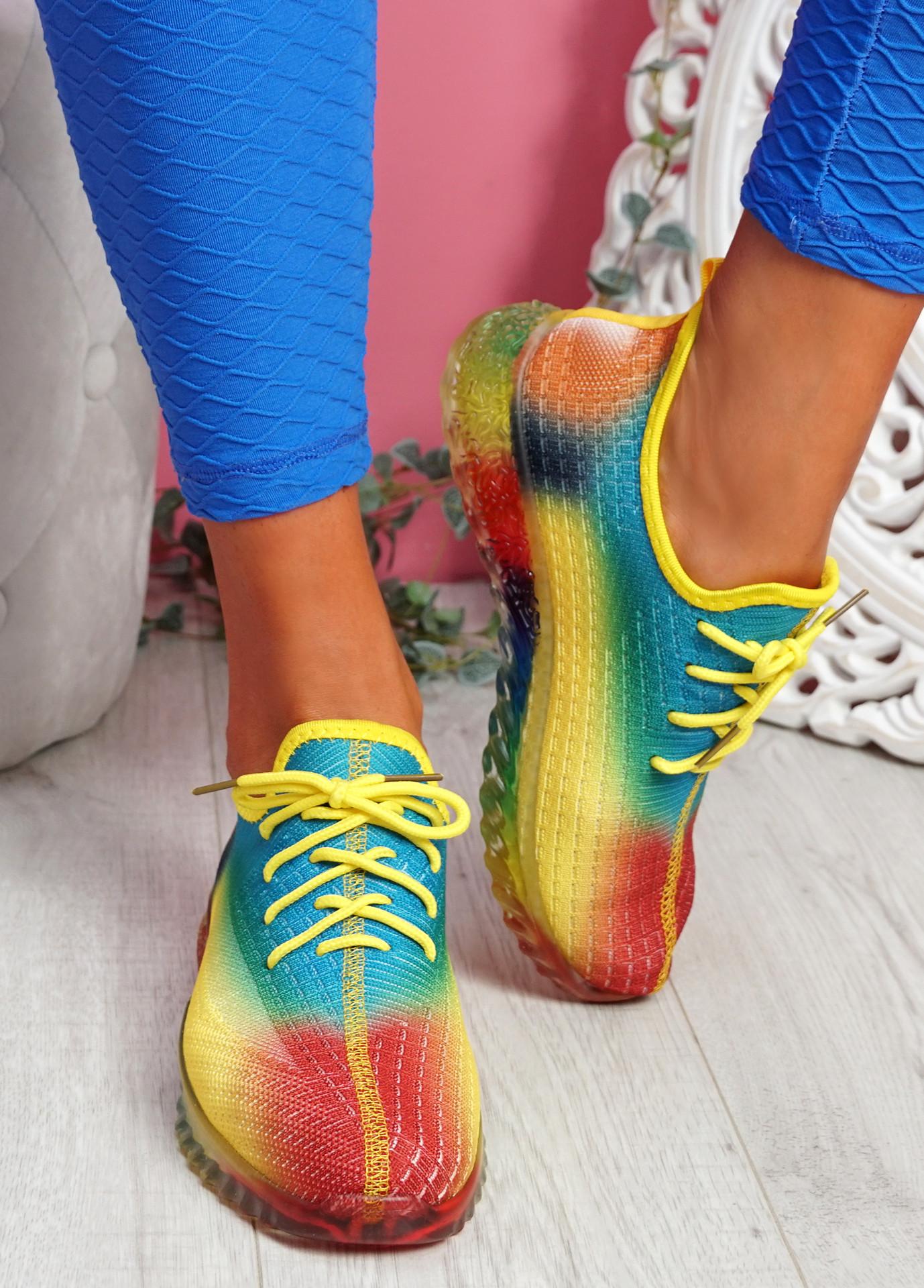 Rufo Yellow Rainbow Sneakers