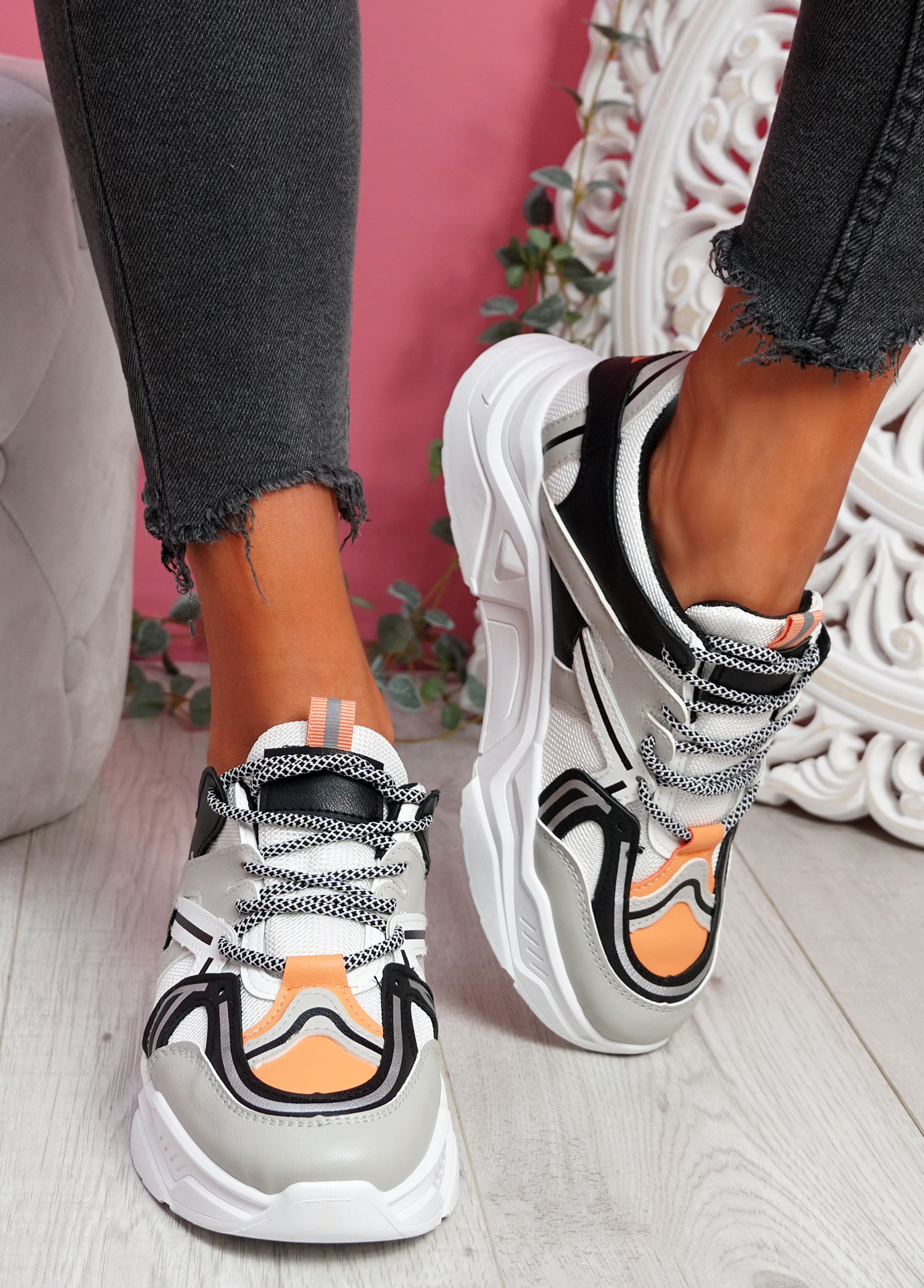 Lota Grey Chunky Sneakers