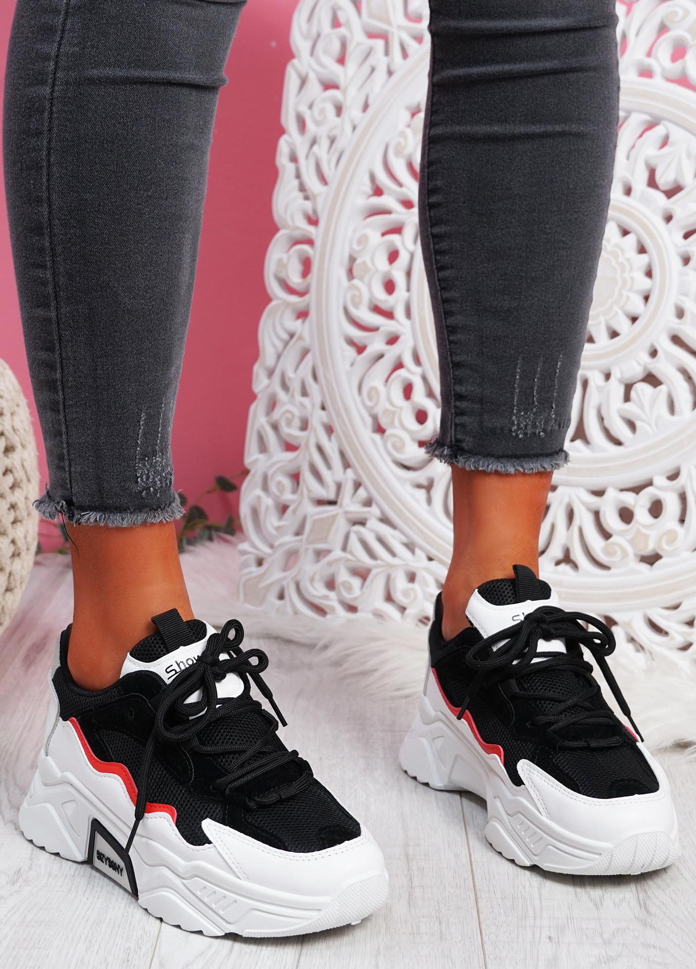 Kopy Black Chunky Sneakers