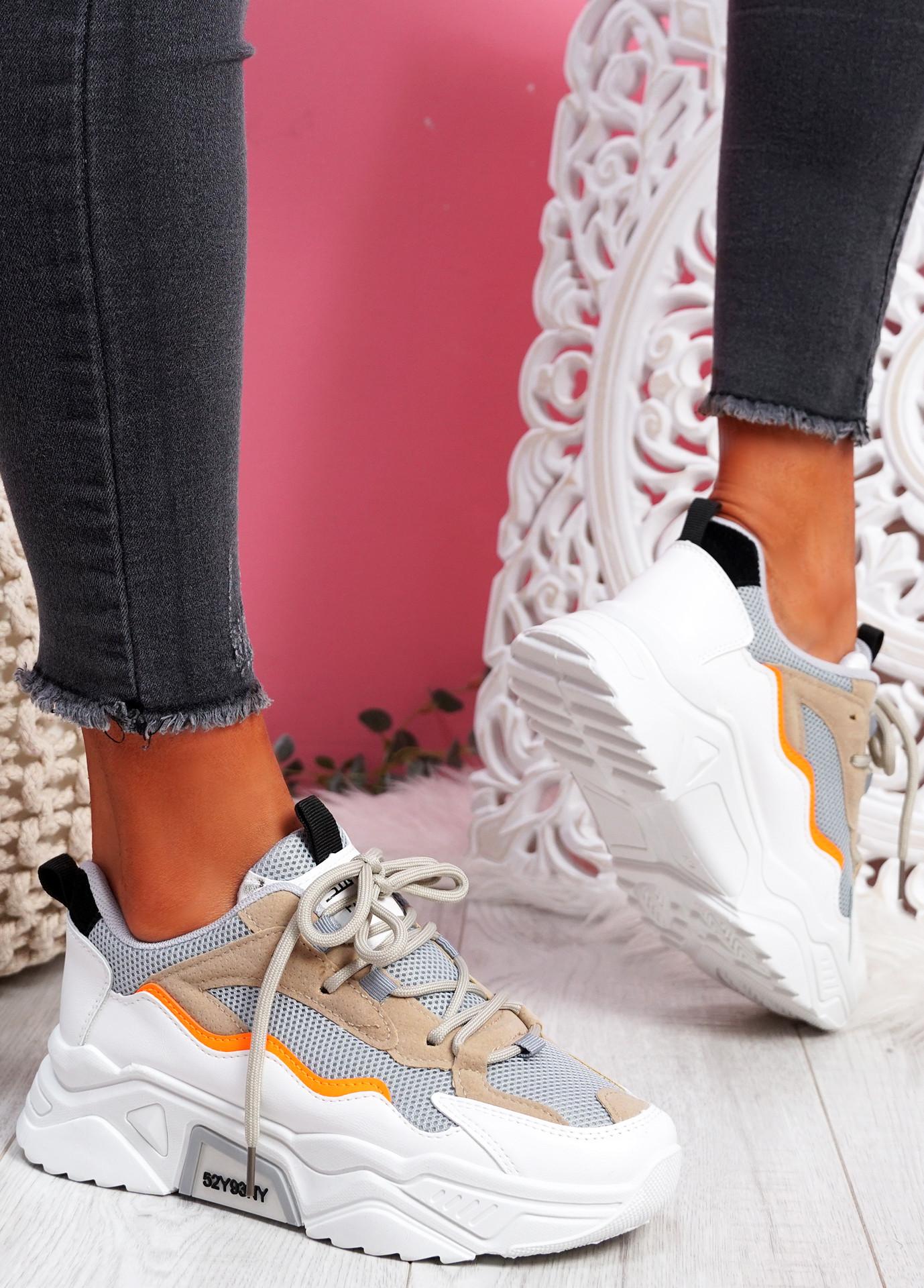 Kopy Grey Chunky Sneakers