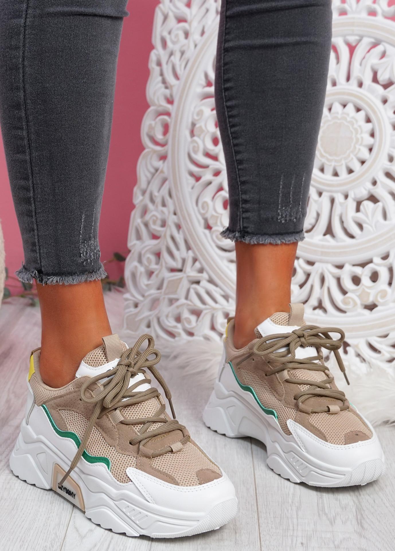 Kopy Khaki Chunky Sneakers