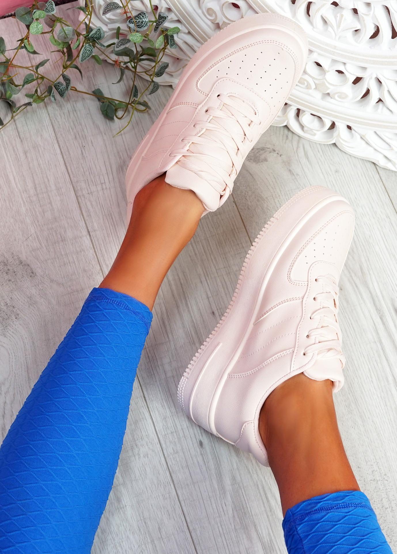 Merty Pink Flatform Trainers