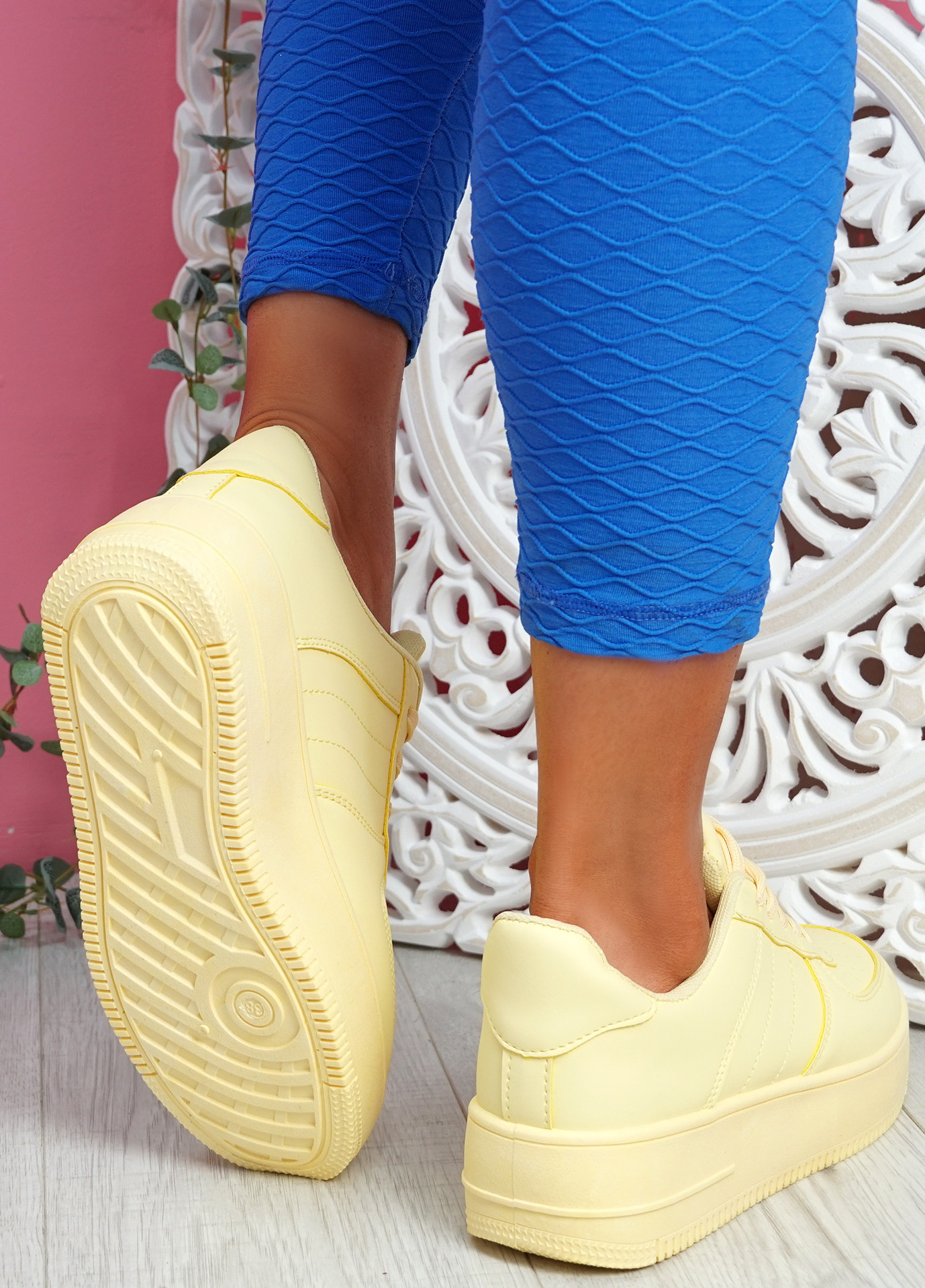 Merty Yellow Flatform Trainers