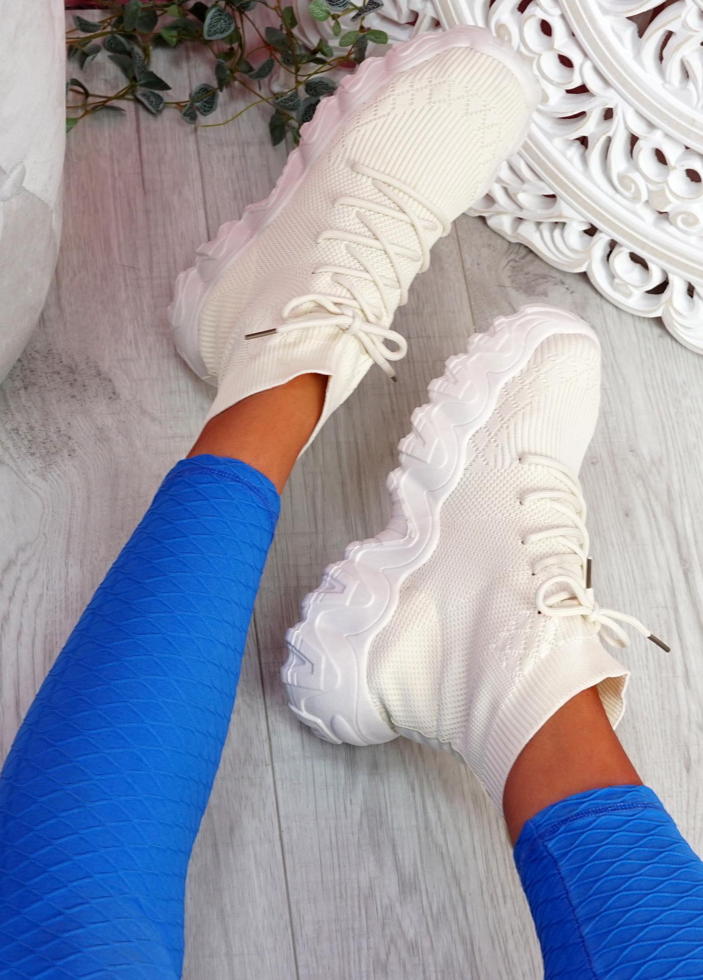 Cerra Beige Sock Sneakers