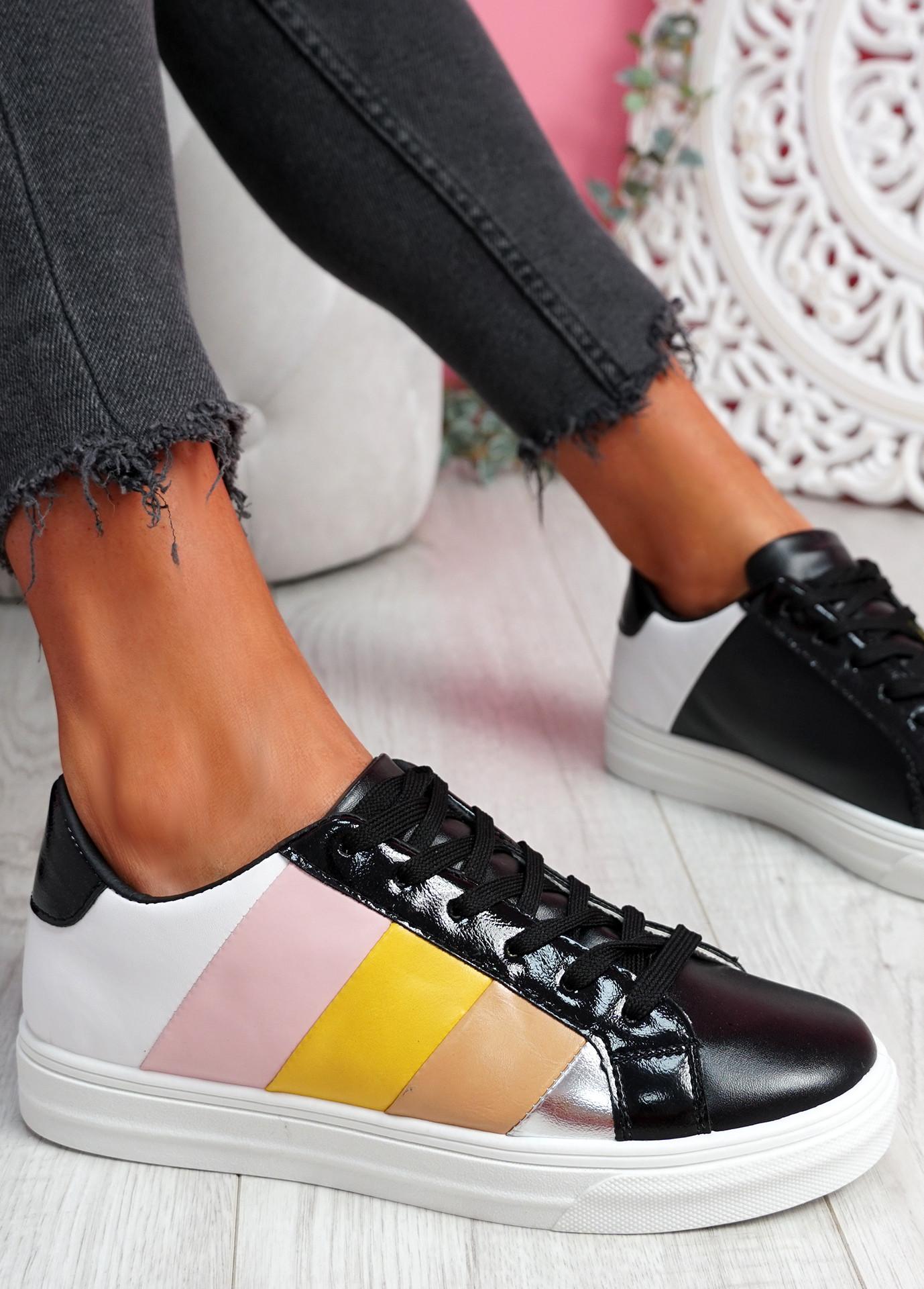 Yza Black Multicolor Trainers