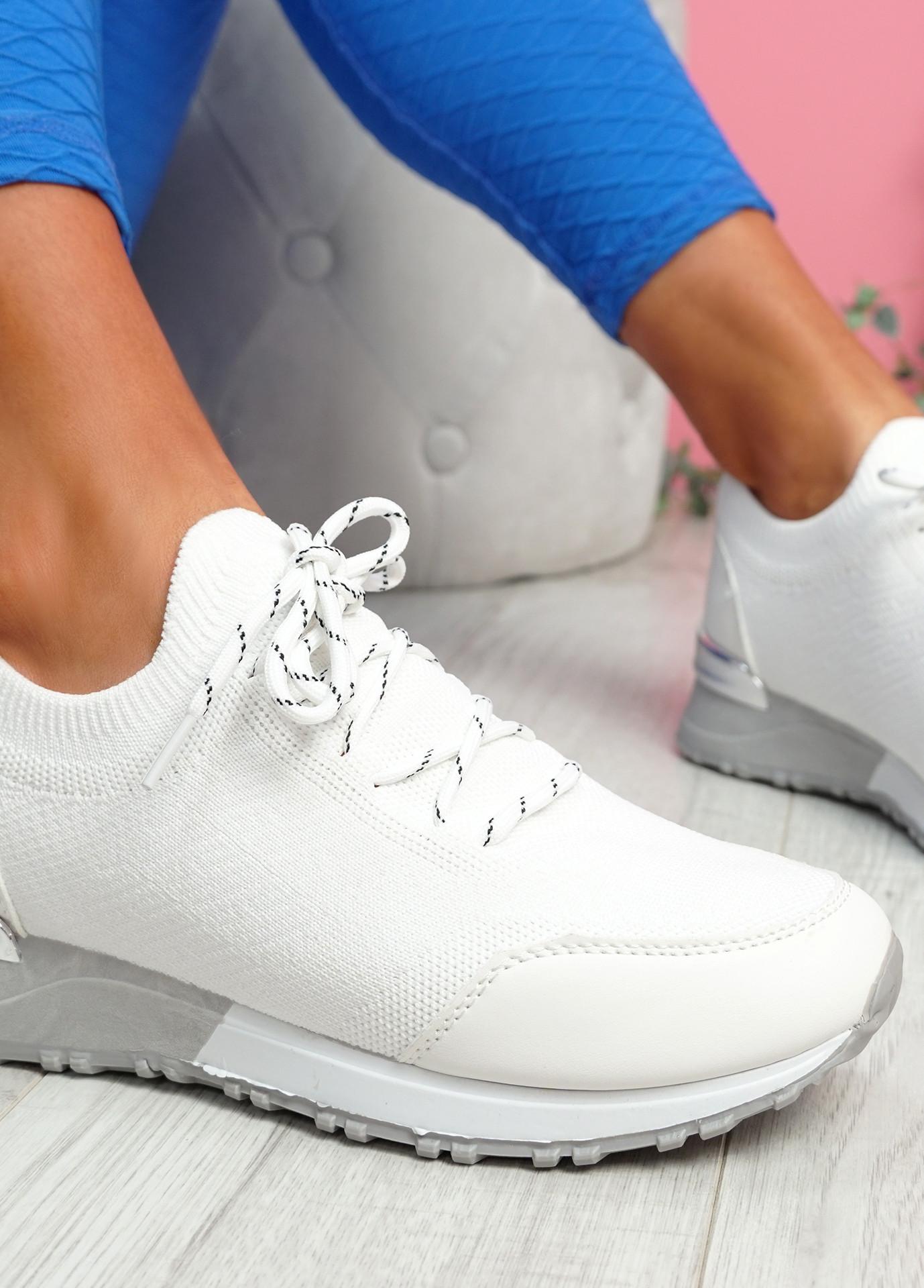 Mezzy White Sport Trainers