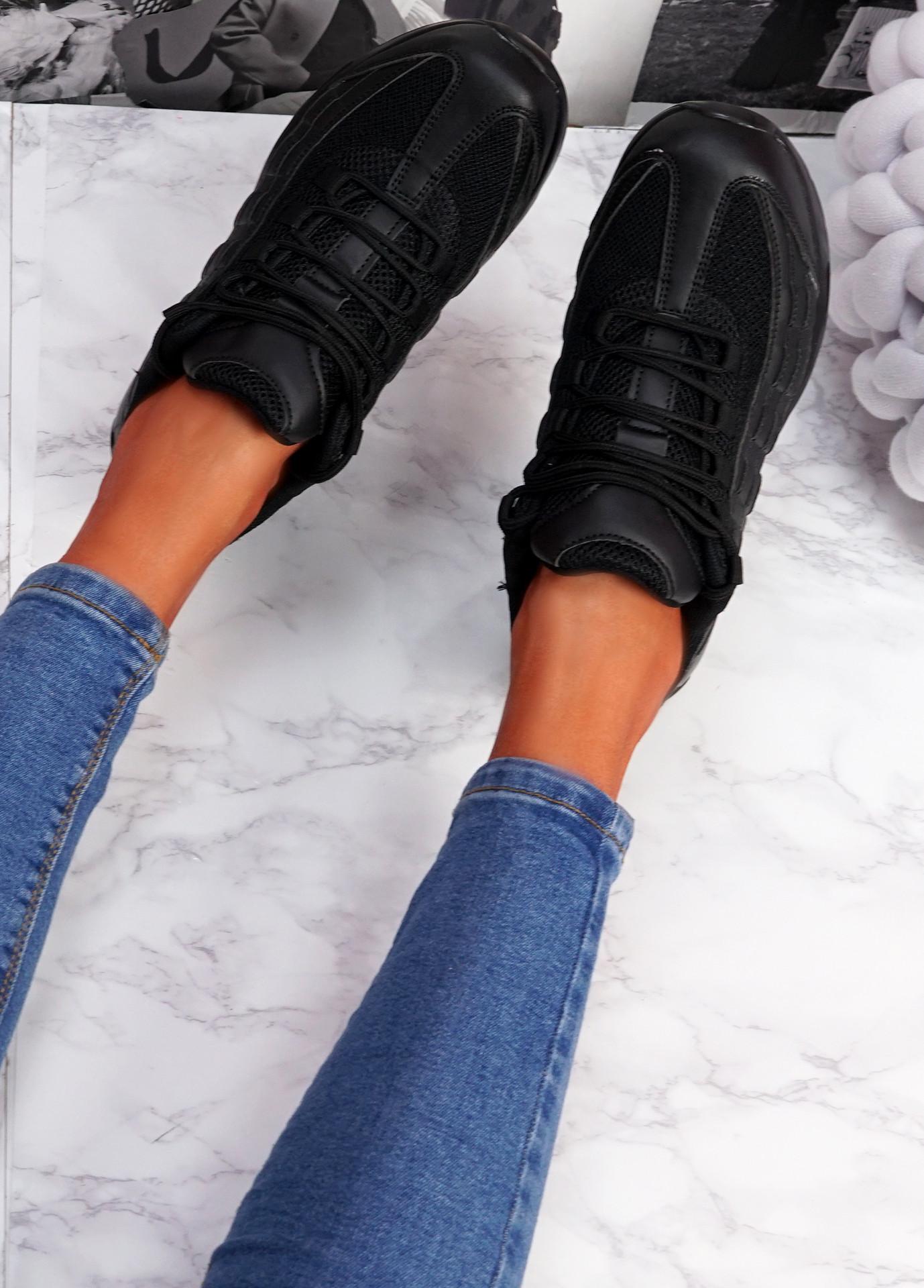 Judy Black Sport Sneakers