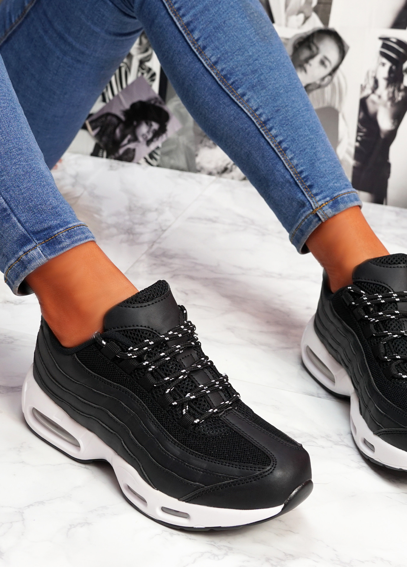 Judy Black White Sport Sneakers