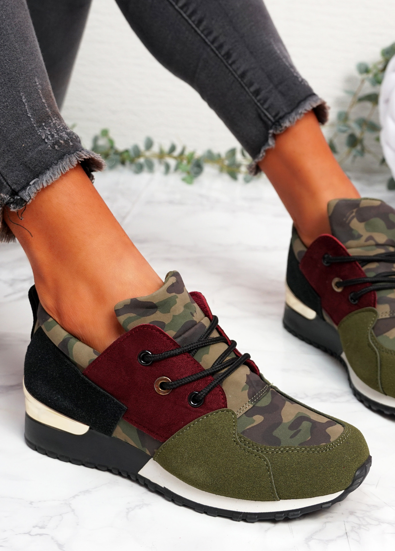 Kolle Army Green Trainers