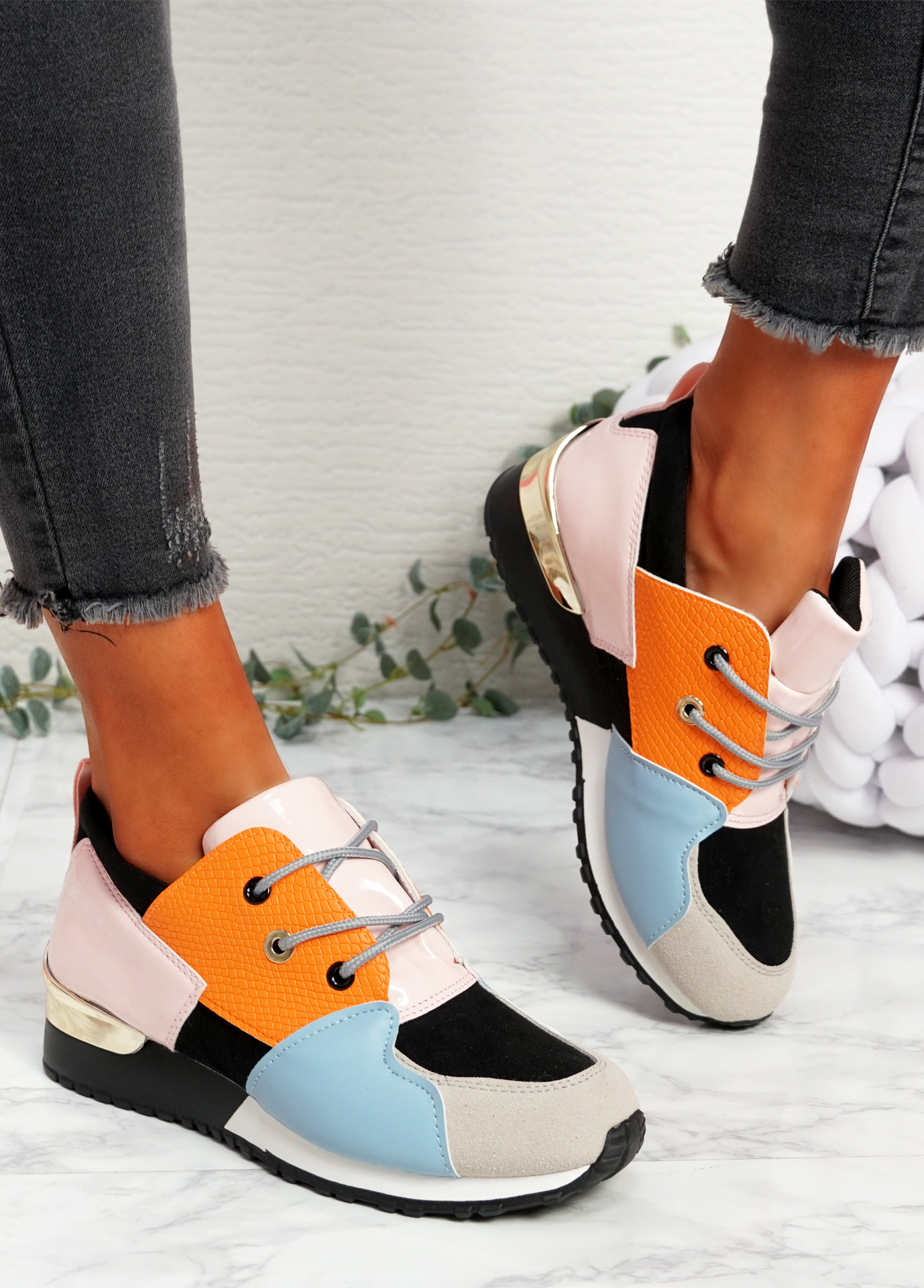 Kolle Pink Snake Trainers