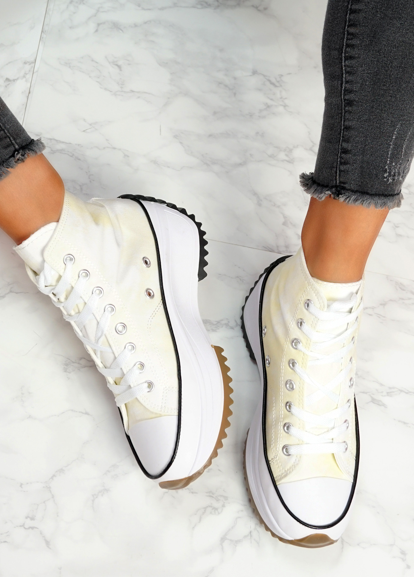 Nuve Light Yellow Flatform Trainers