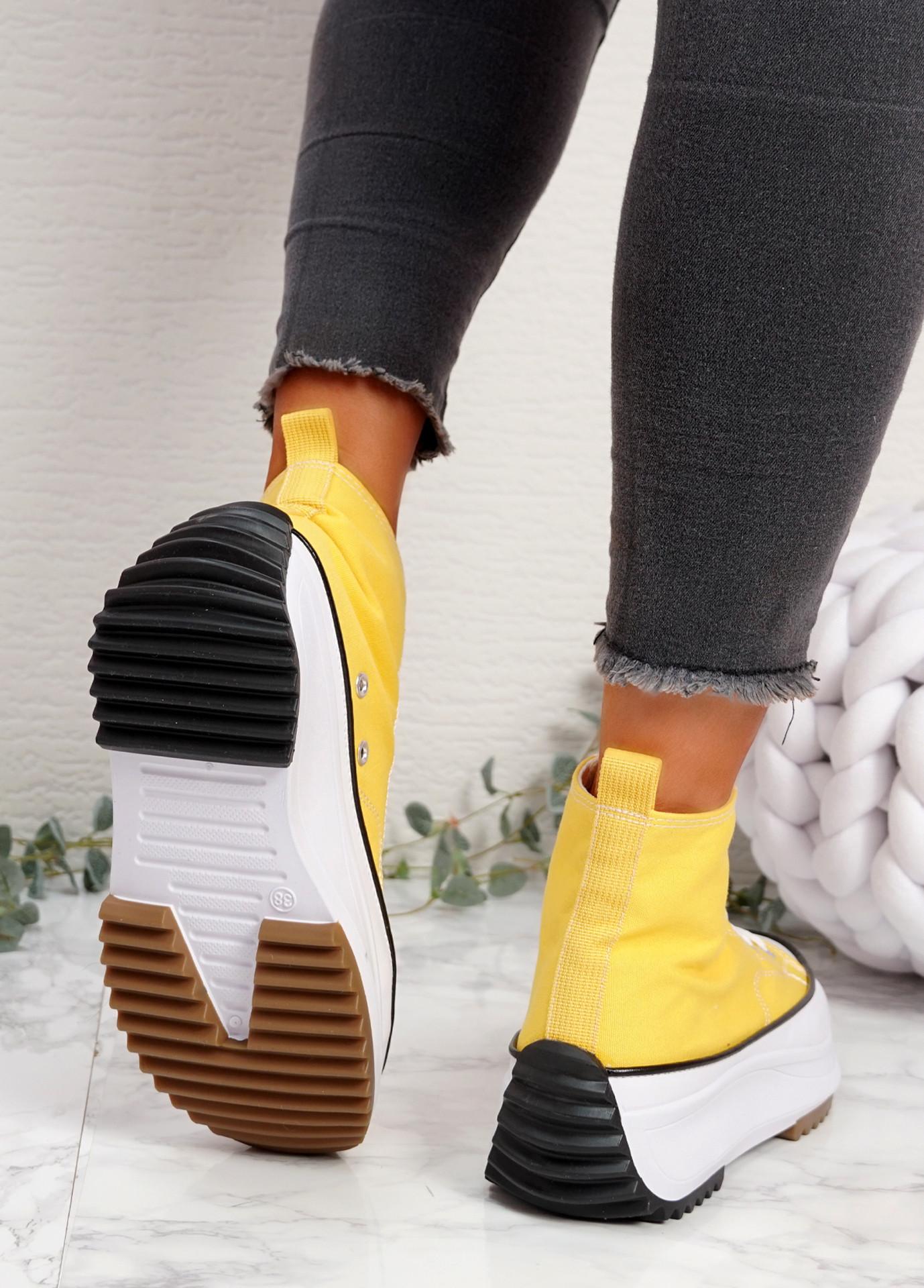 Nuve Yellow Flatform Trainers