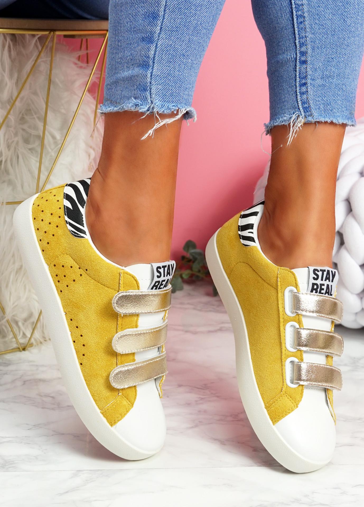 Hesa Yellow Sport Plimsolls
