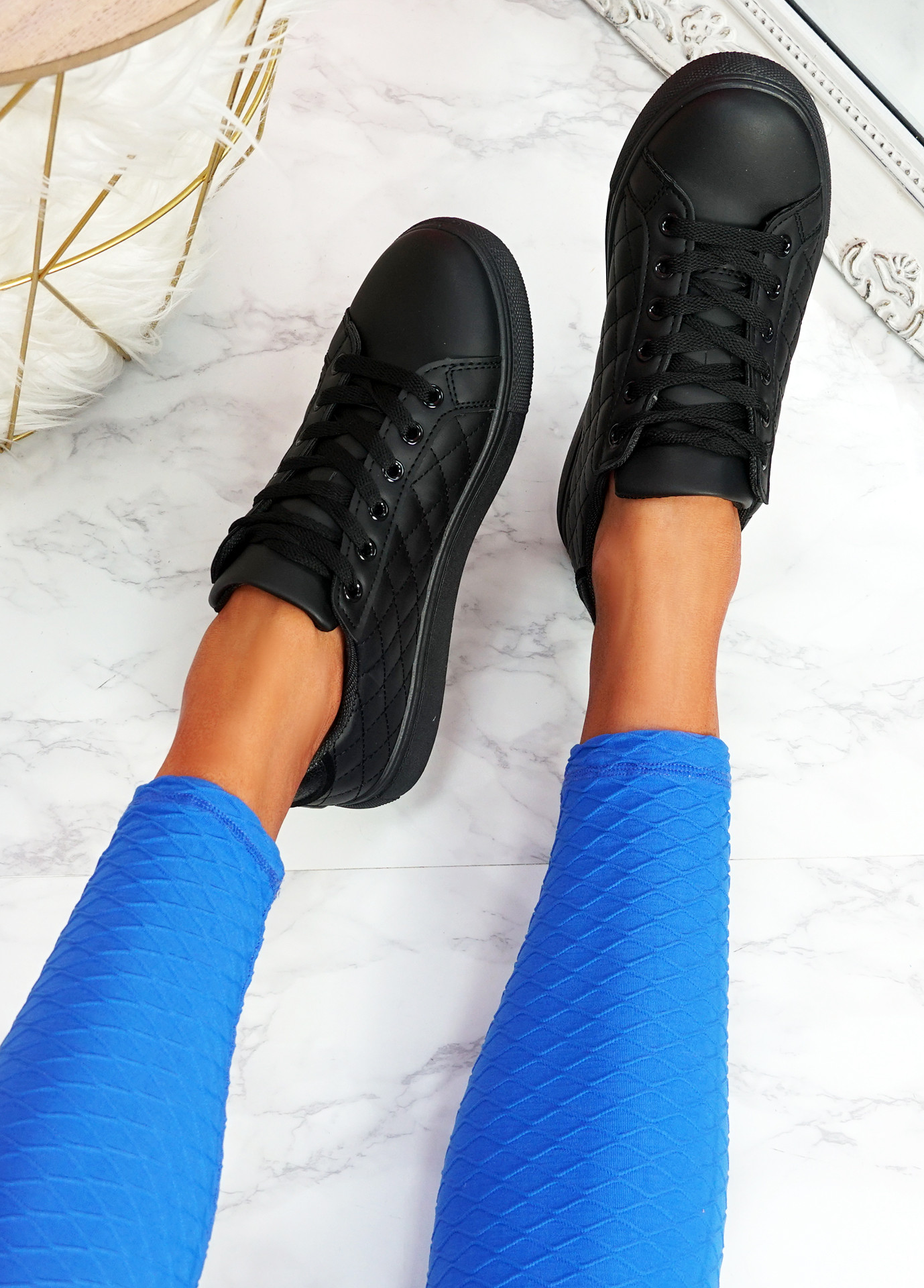 Kety Black Lace Up Trainers