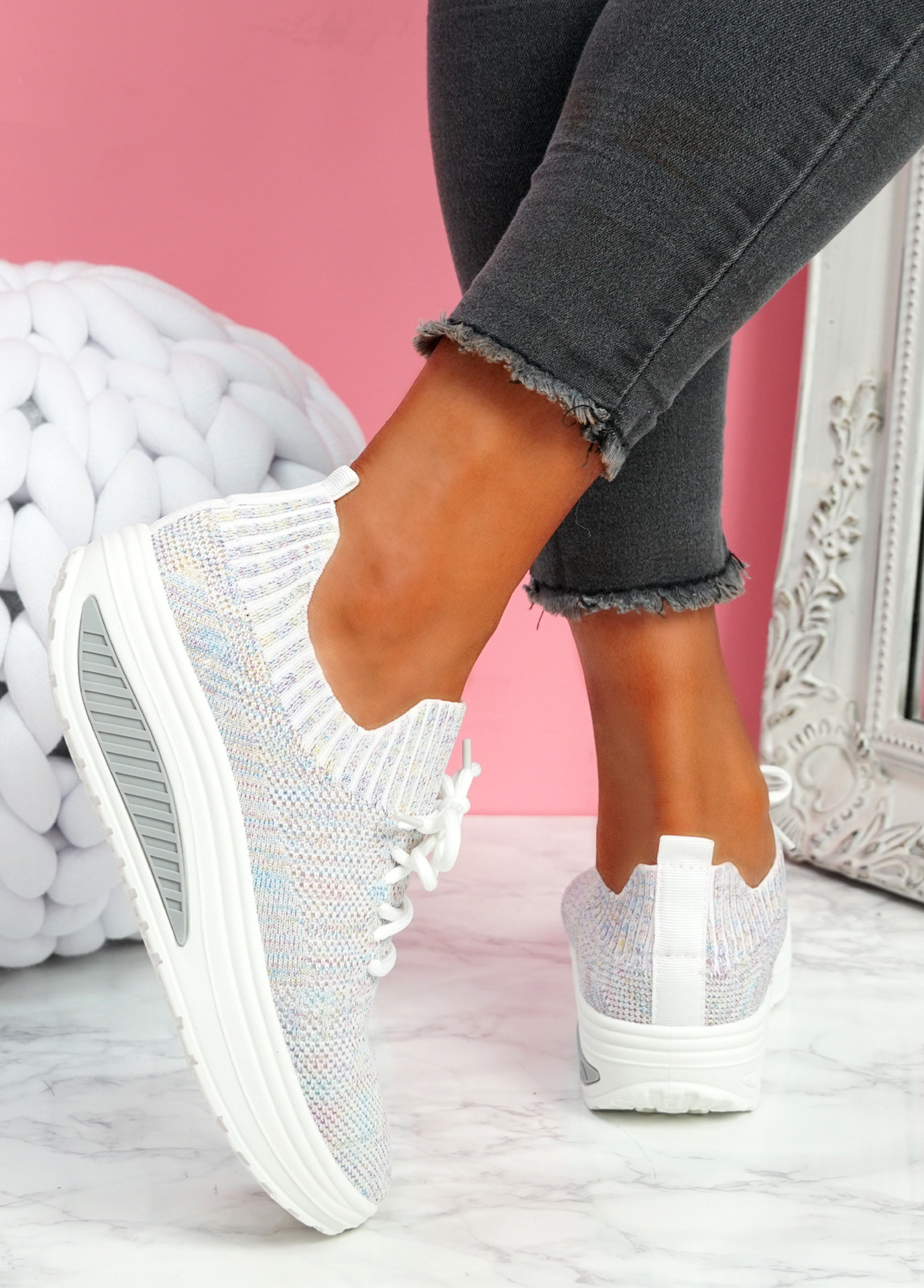 Pinna Pink Knit Trainers