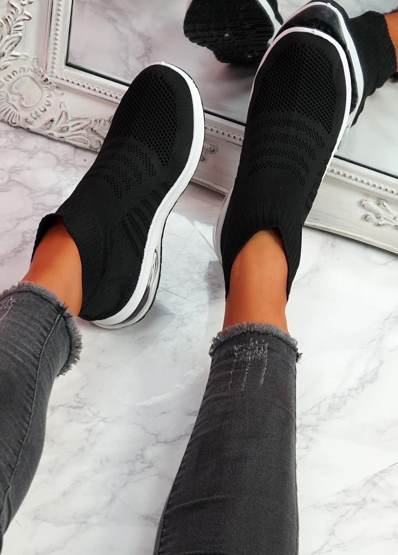 Iny Black Sock Sneakers