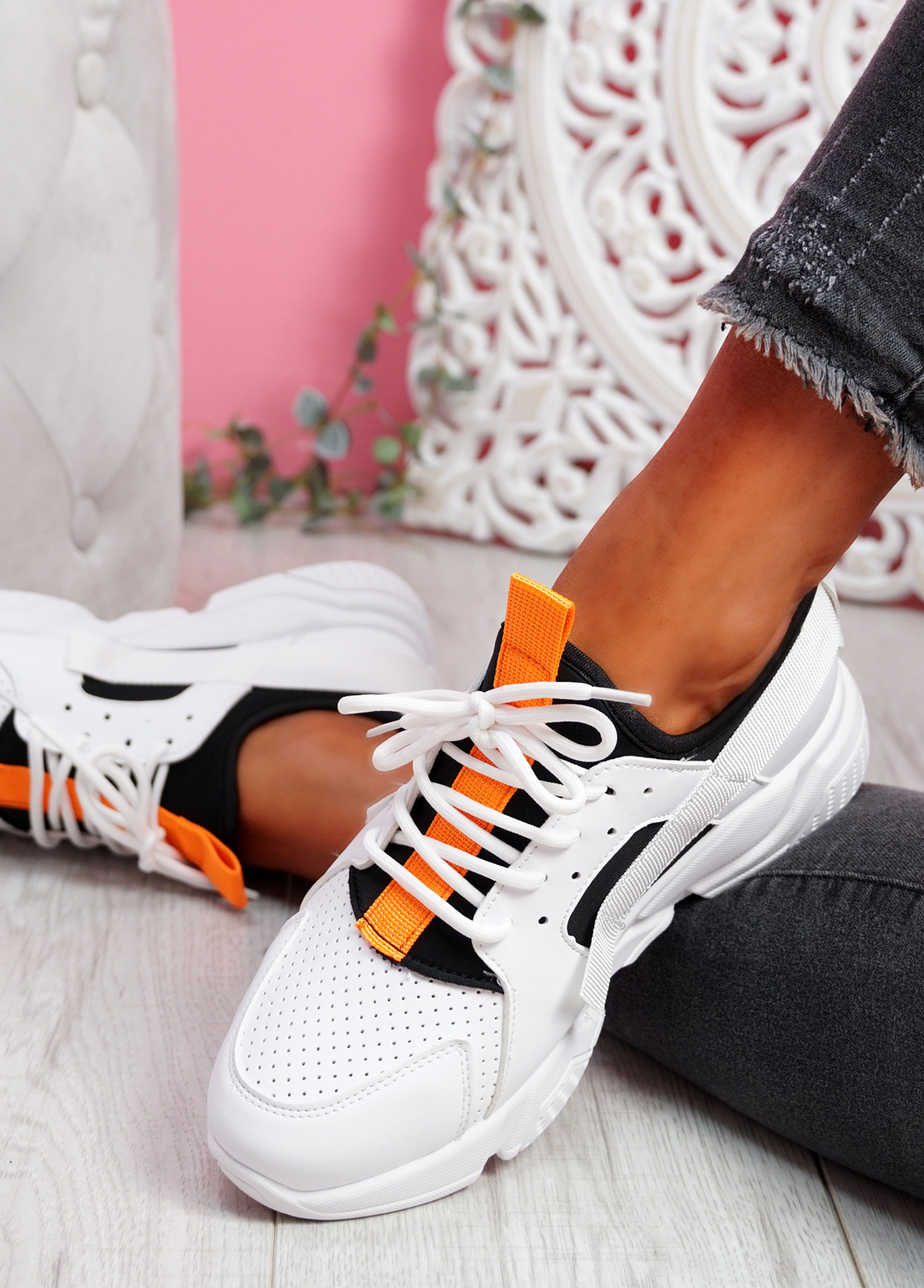 Nommy Black Chunky Trainers