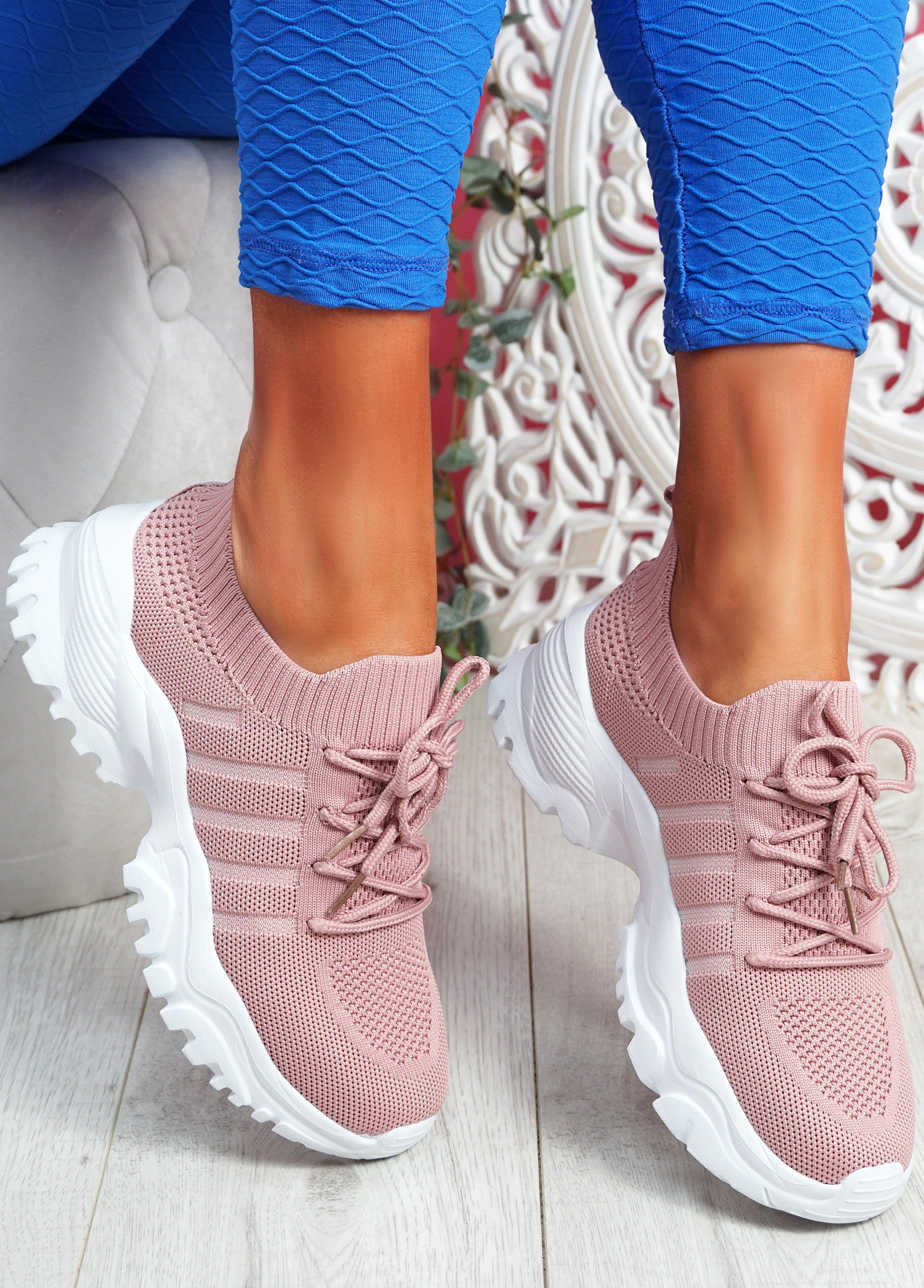 Tilla Pink Chunky Sport Trainers