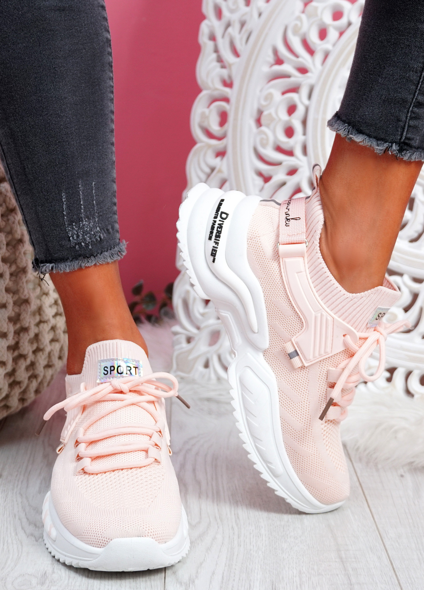 Tony Pink Sport Sneakers