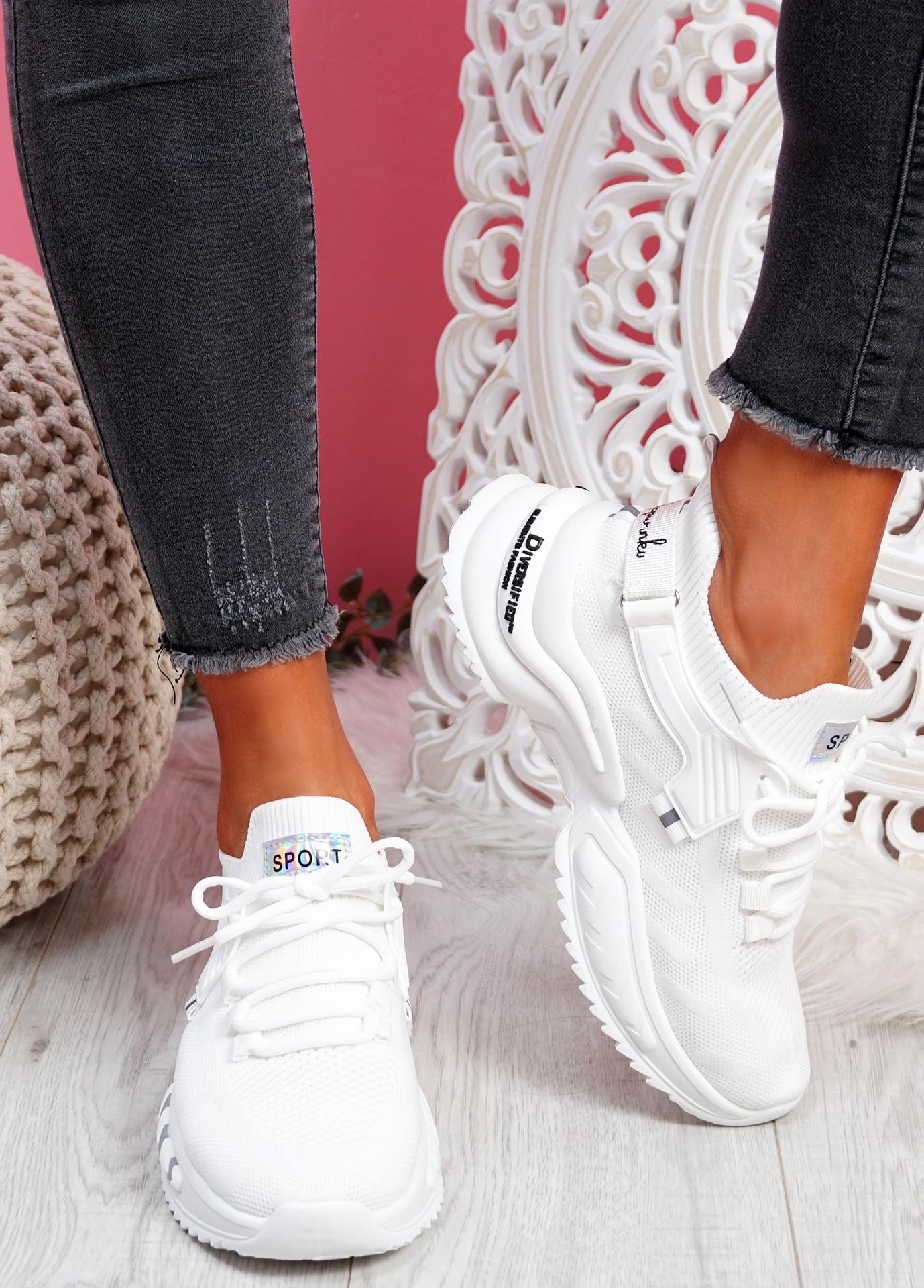 Tony White Sport Sneakers