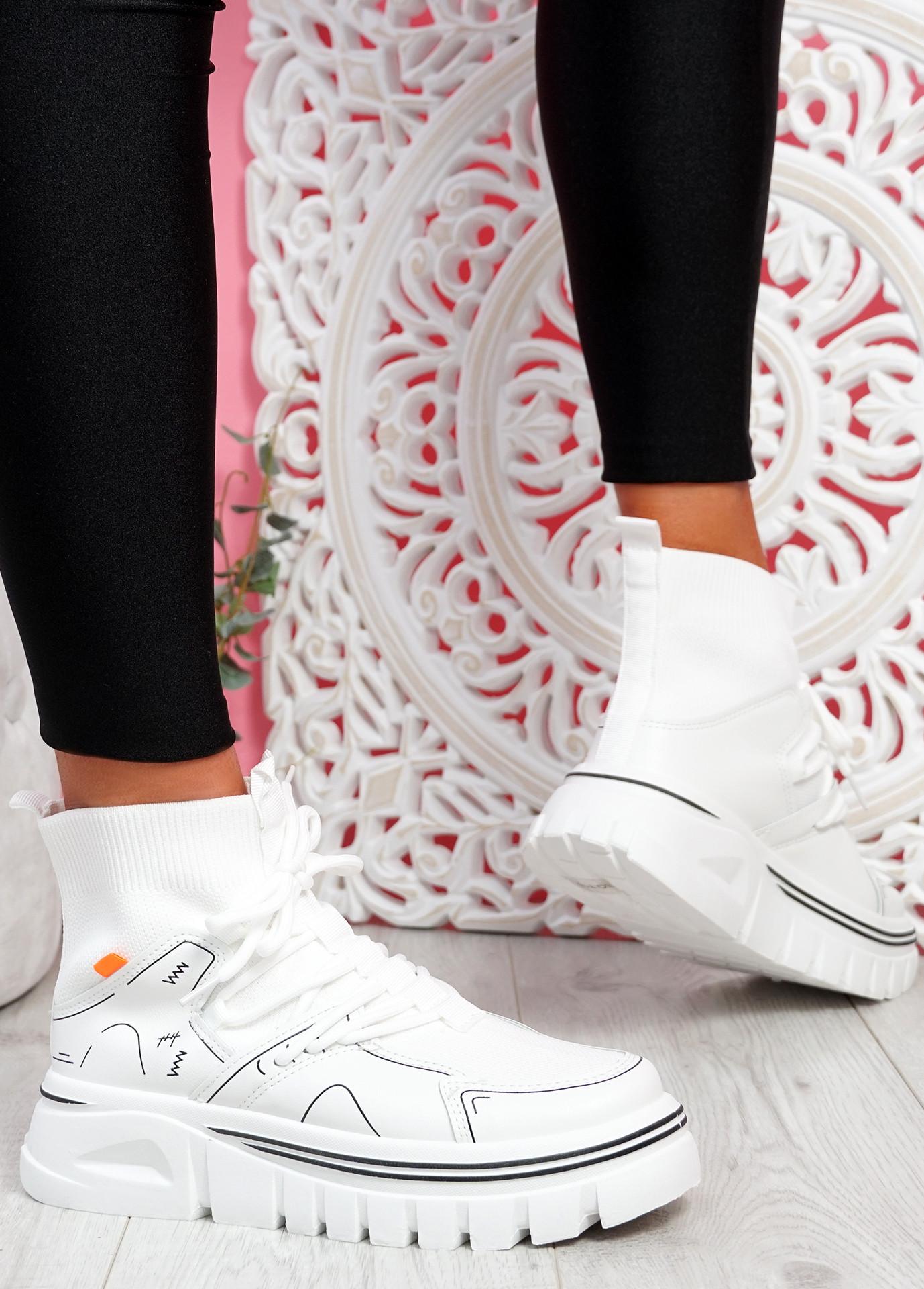 Rife White Sock Chunky Trainers
