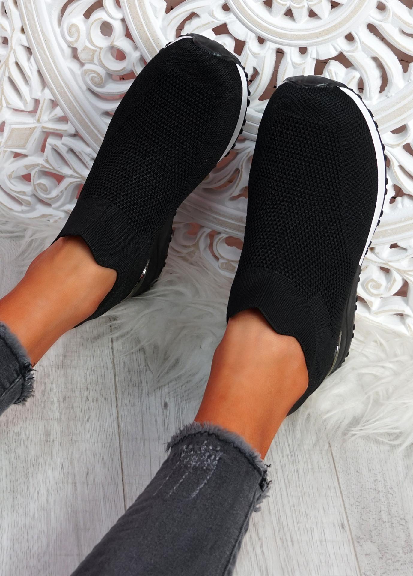 Rovy Black Sock Sneakers