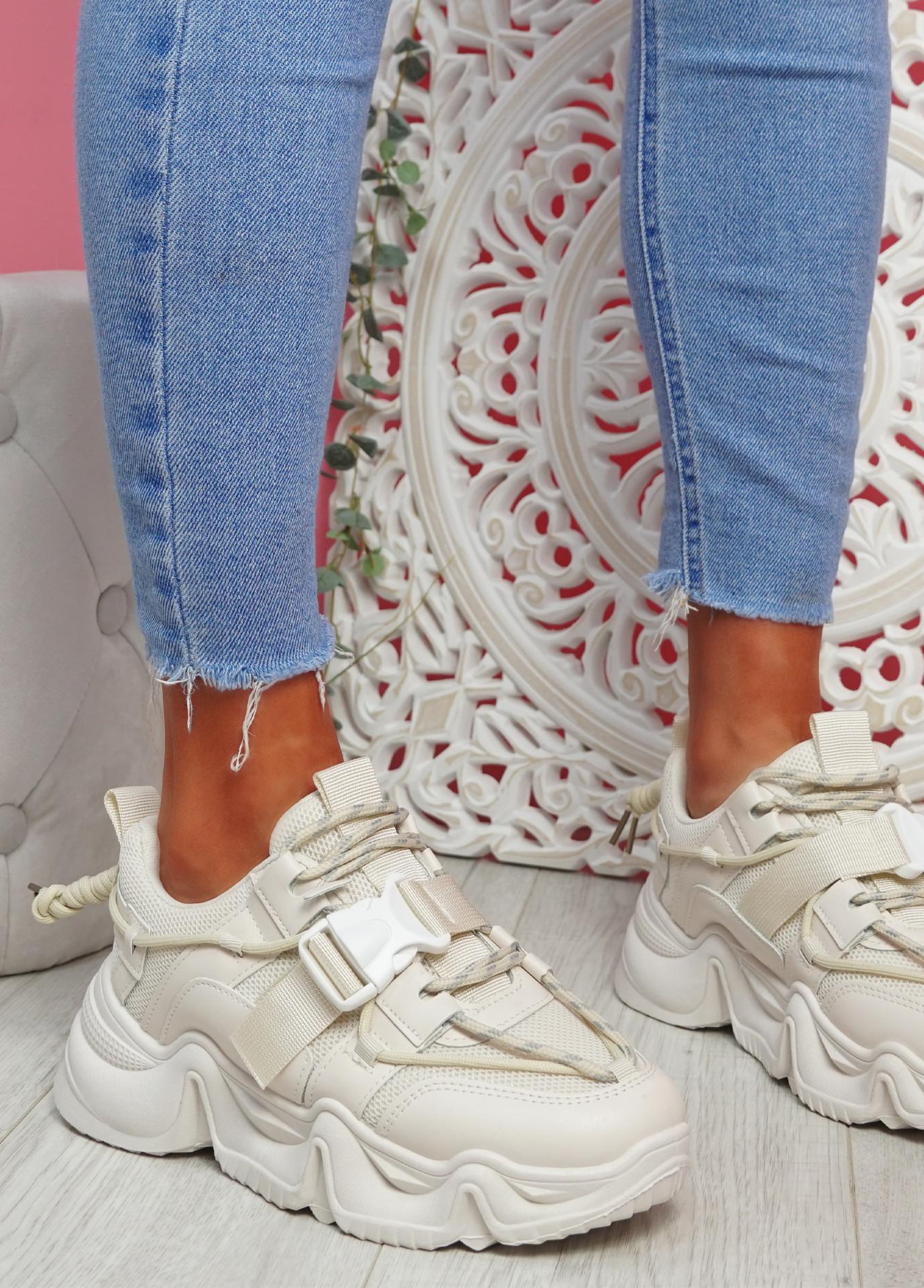 Piko Beige Chunky Sneakers