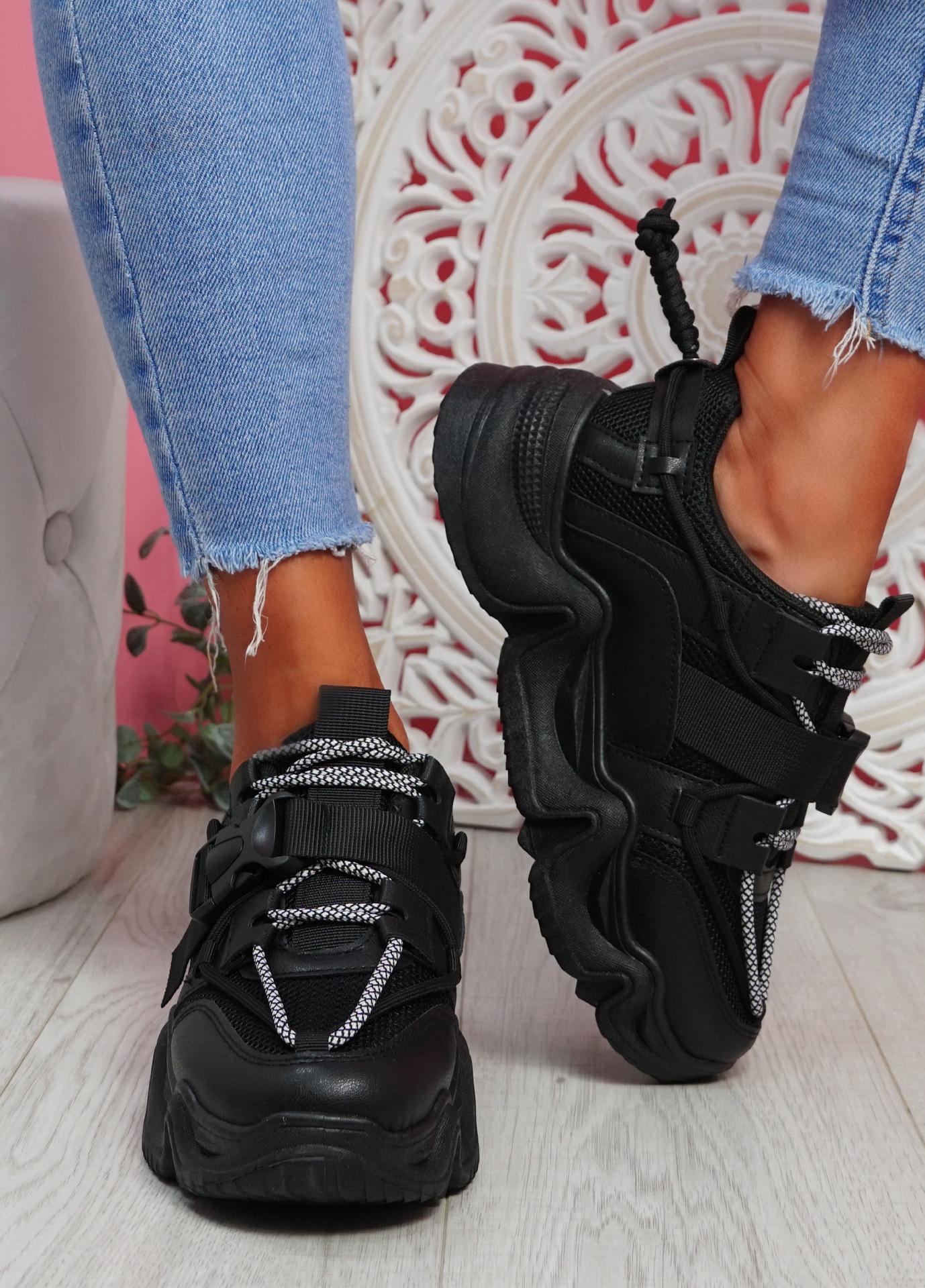Piko Black Chunky Sneakers