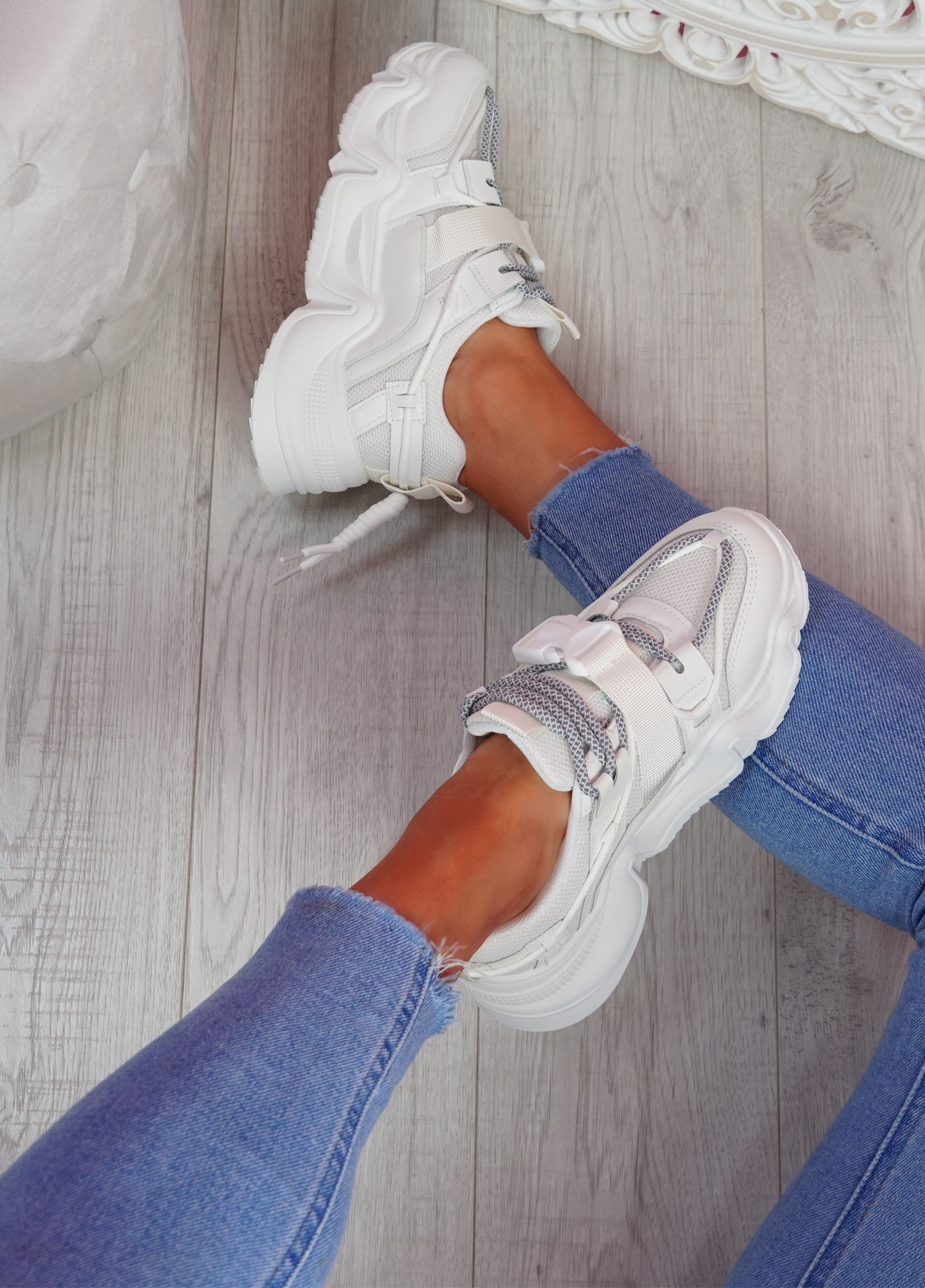 Piko White Chunky Sneakers