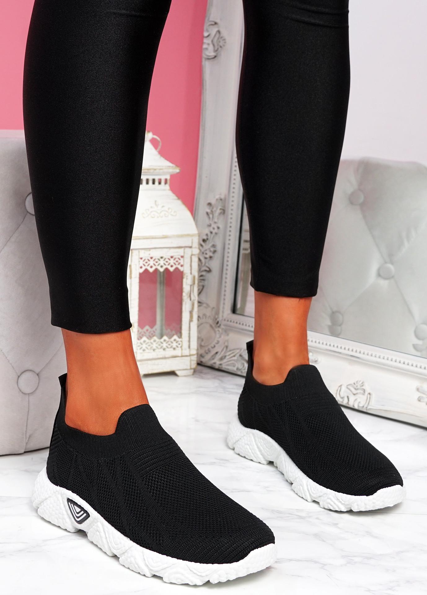 Komy Black Slip On Sneakers