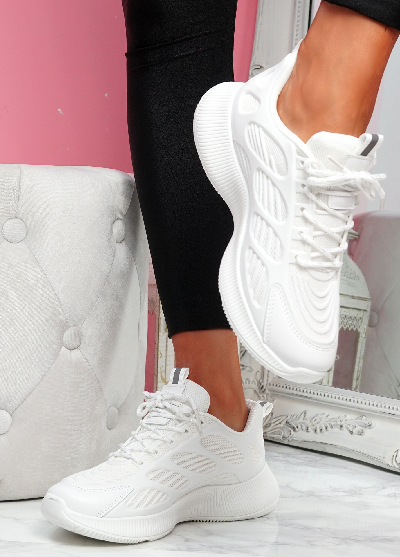 Forre White Running Trainers