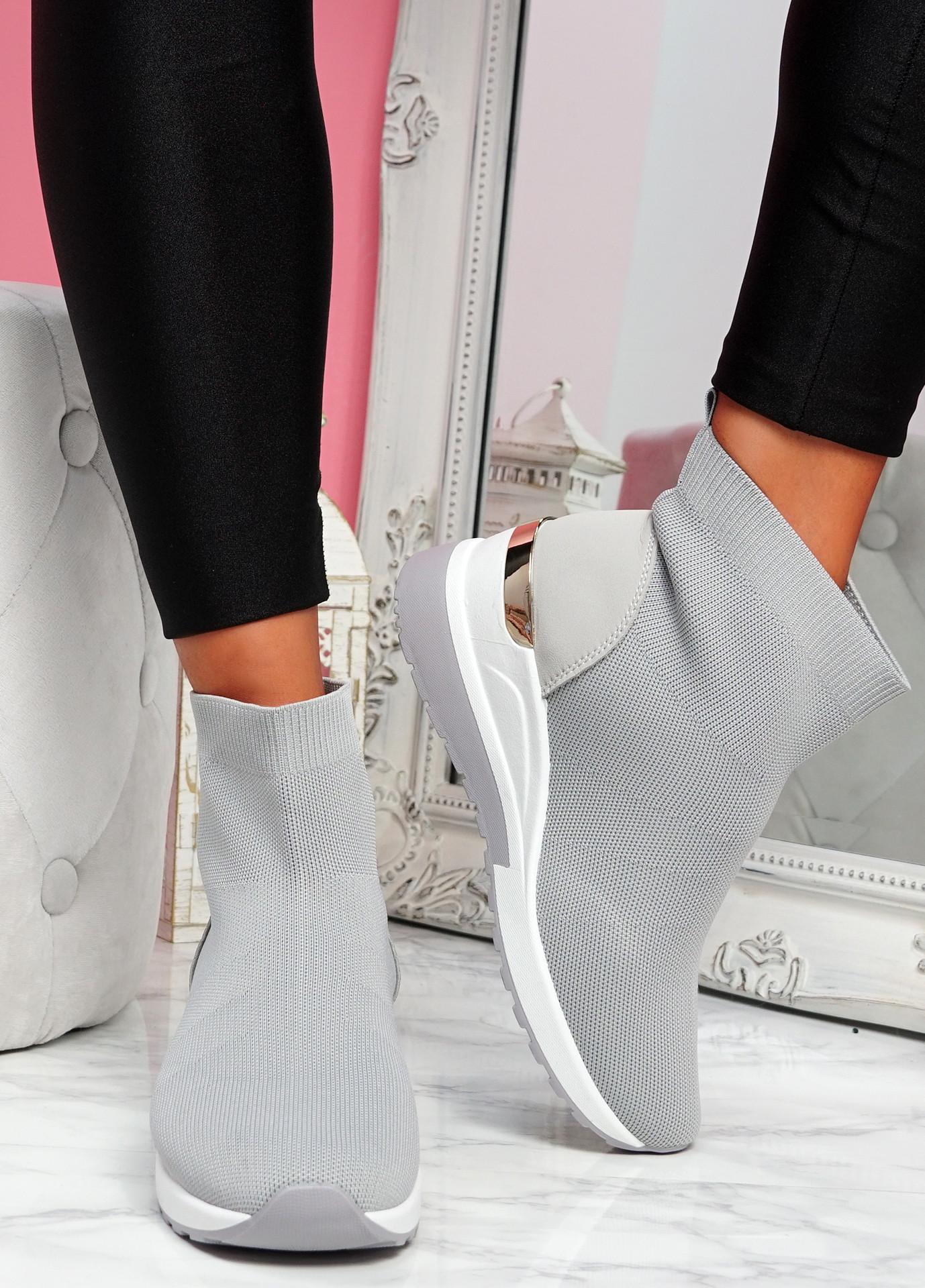 Goba Grey Sock Sneakers