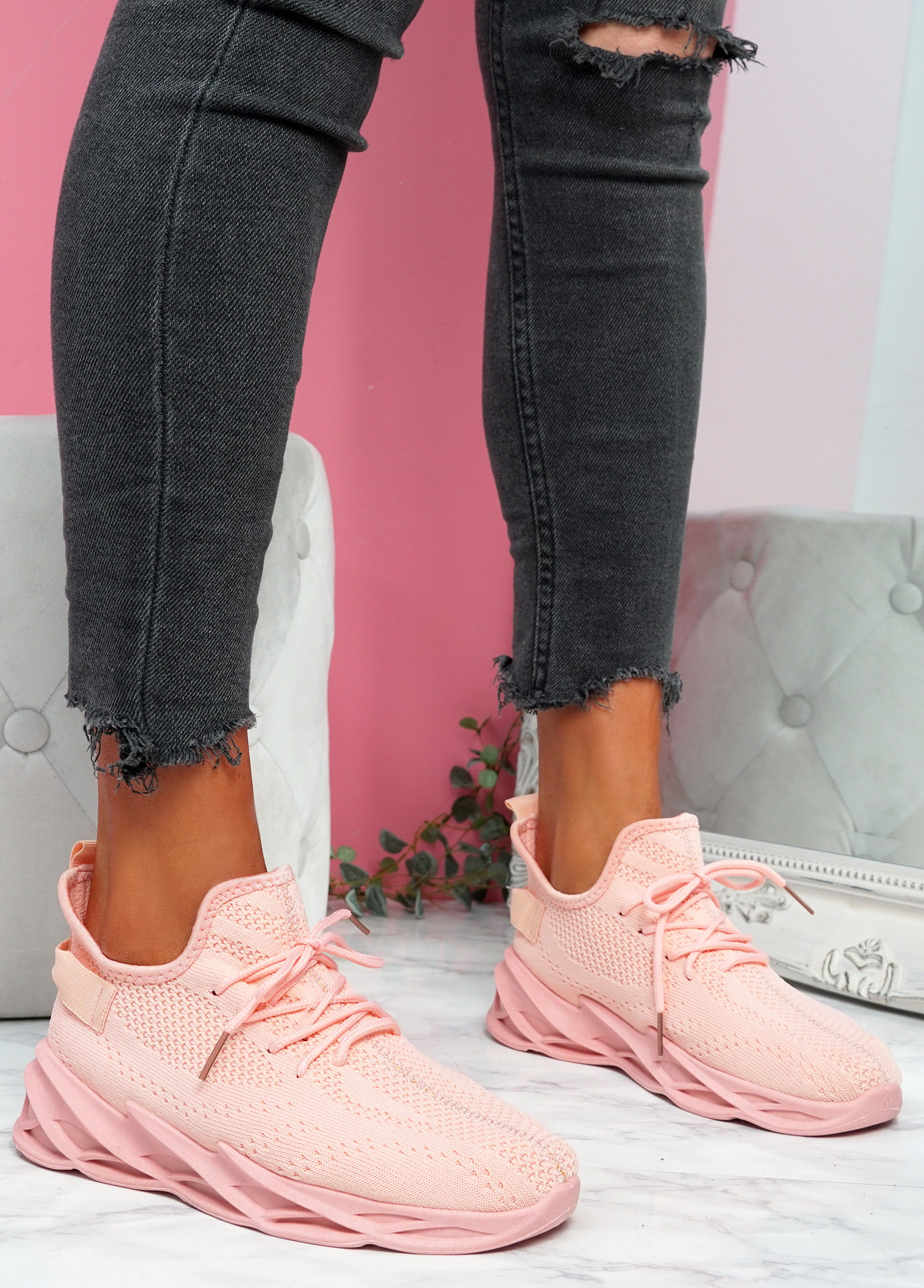 Zamy Pink Running Trainers