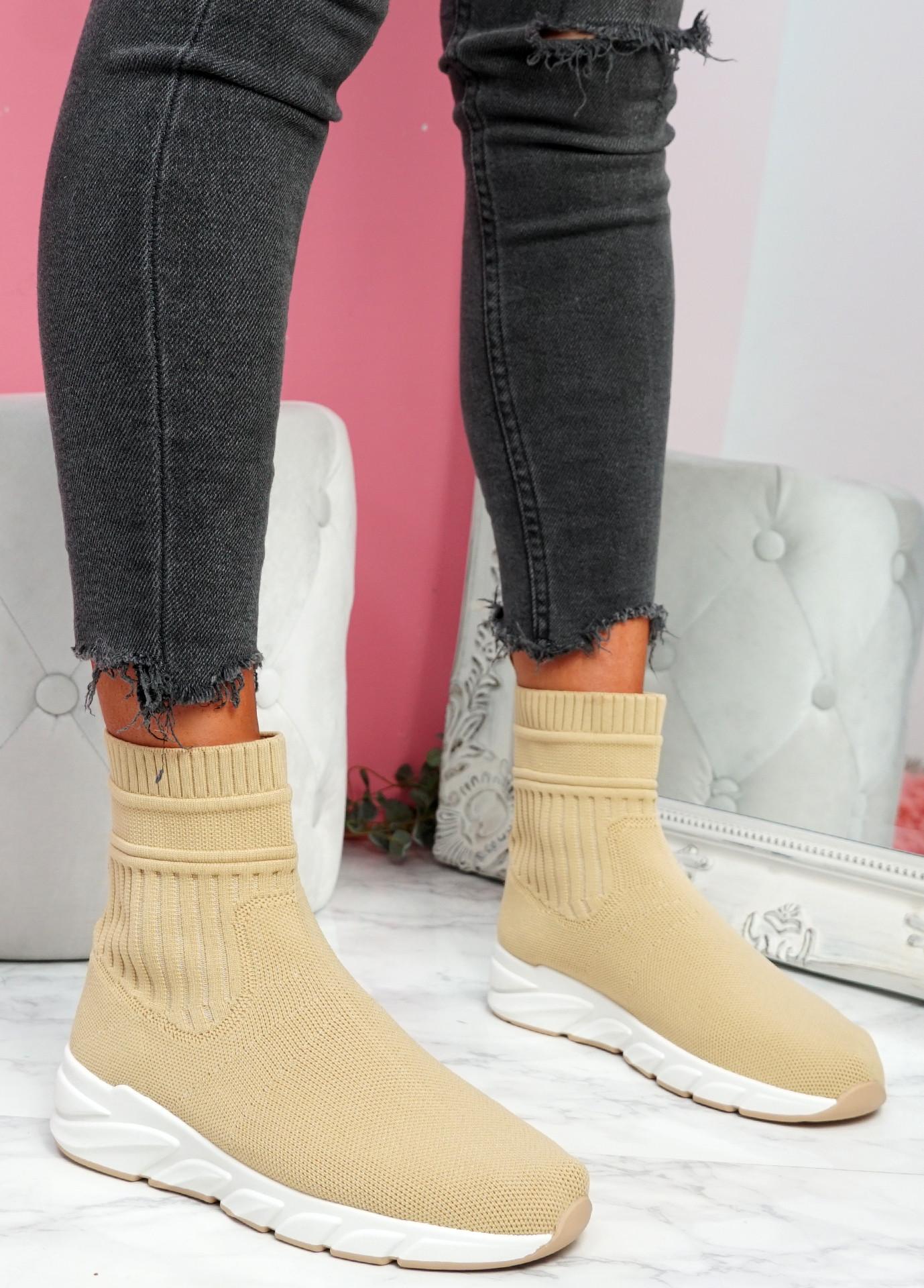 Mimmy Khaki Sock Sneakers