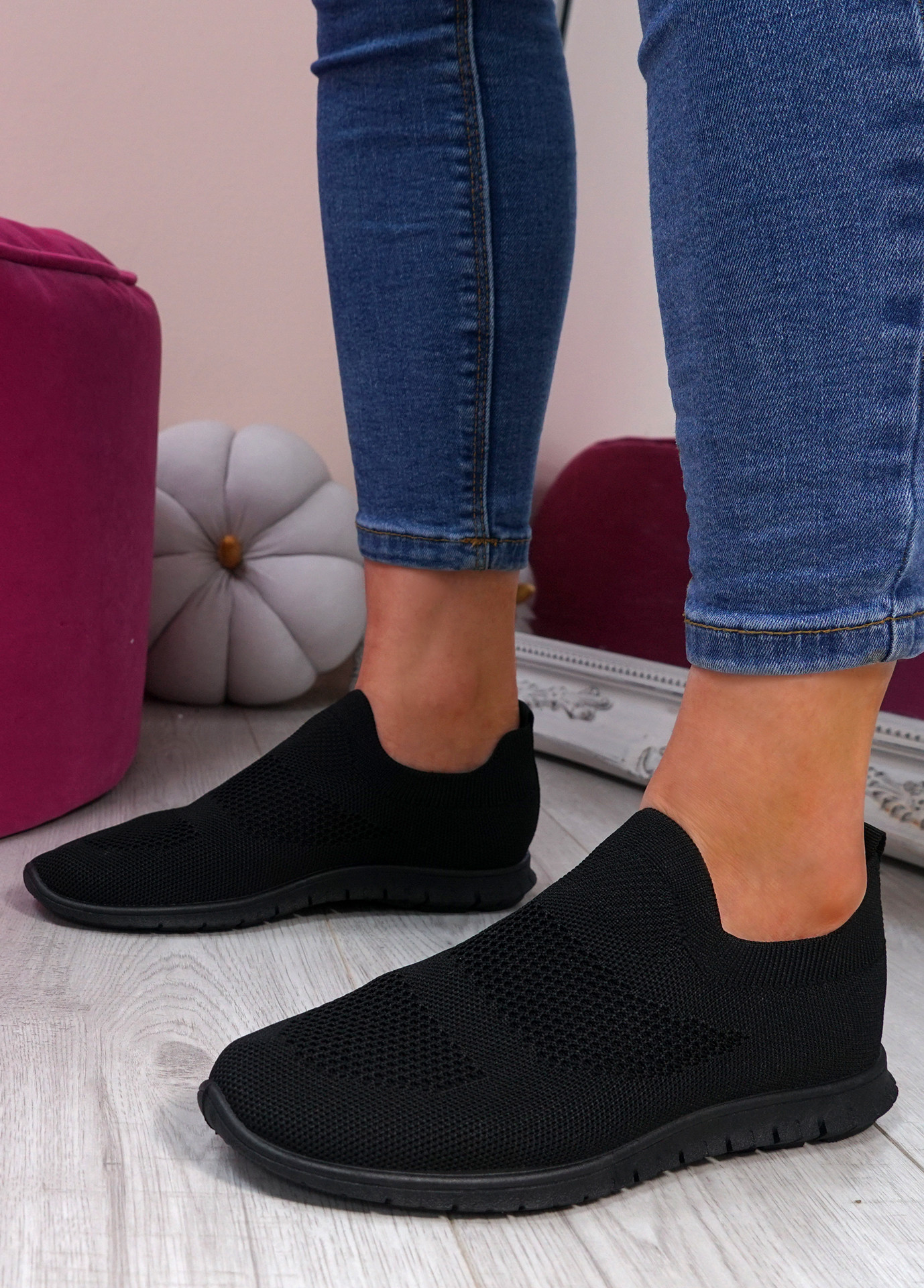 Napy Black Sport Trainers