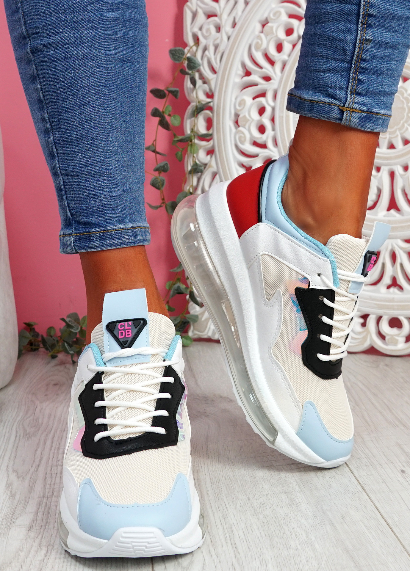 Goma Blue Clear Heel Trainers