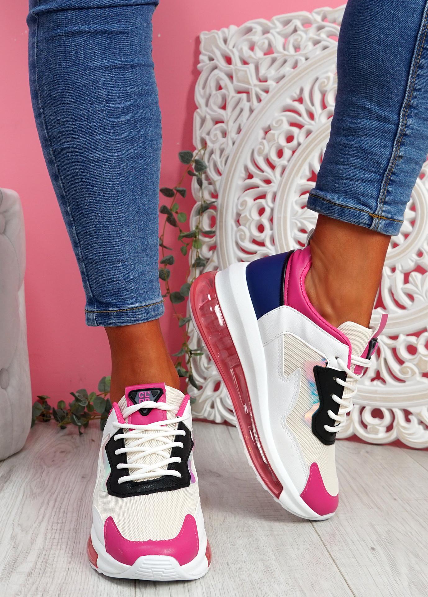 Goma Fuchsia Clear Heel Trainers