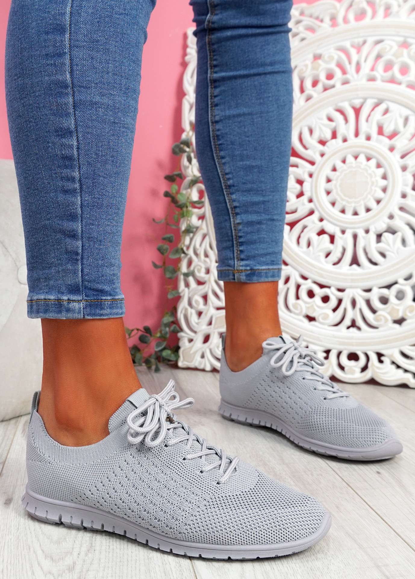 Fego Grey Running Sneakers
