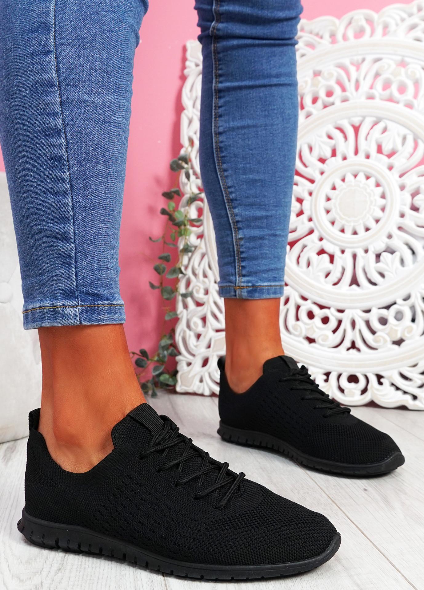 Fego Black Running Sneakers