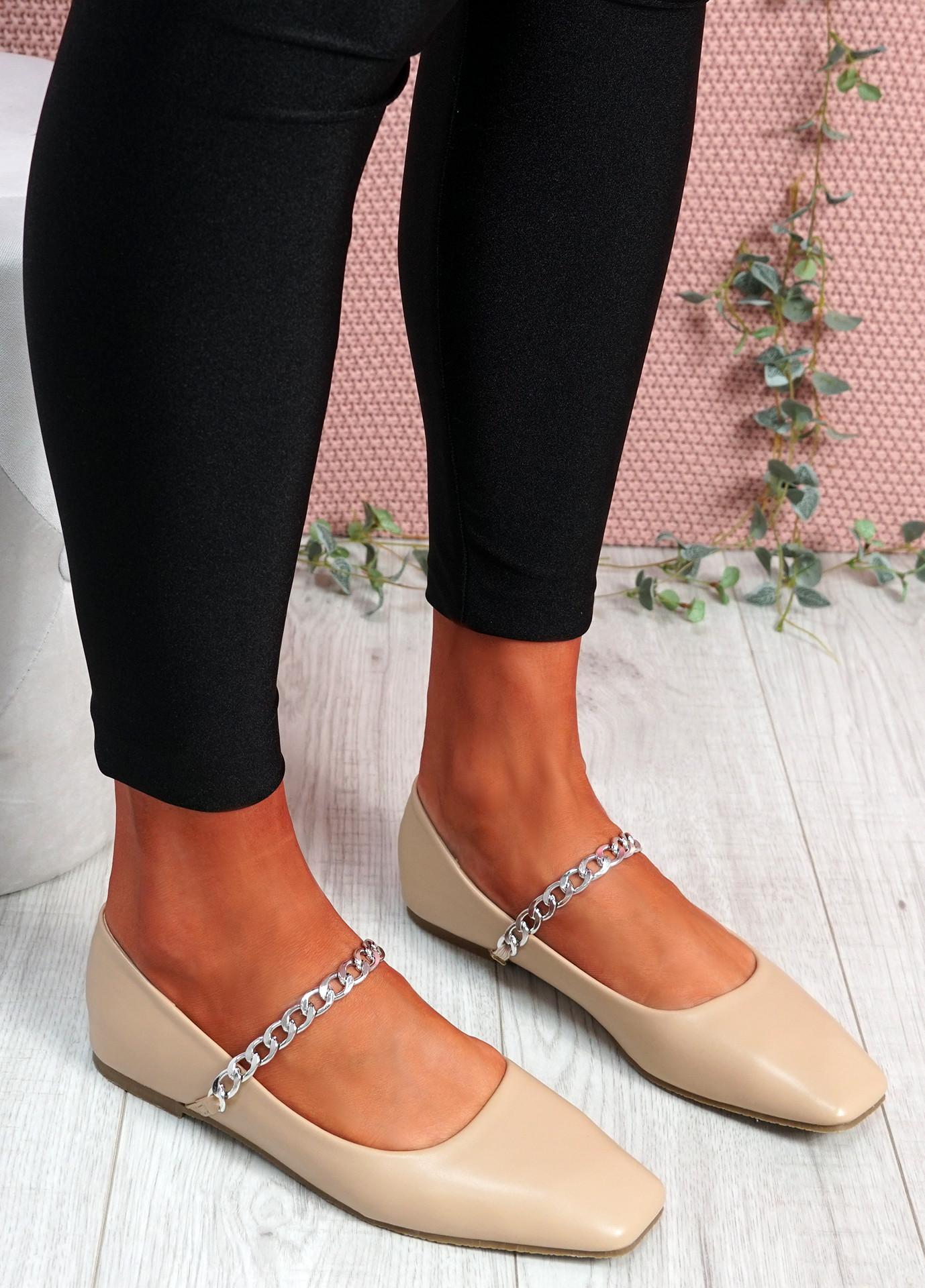 Binna Chain Apricot Ballerinas